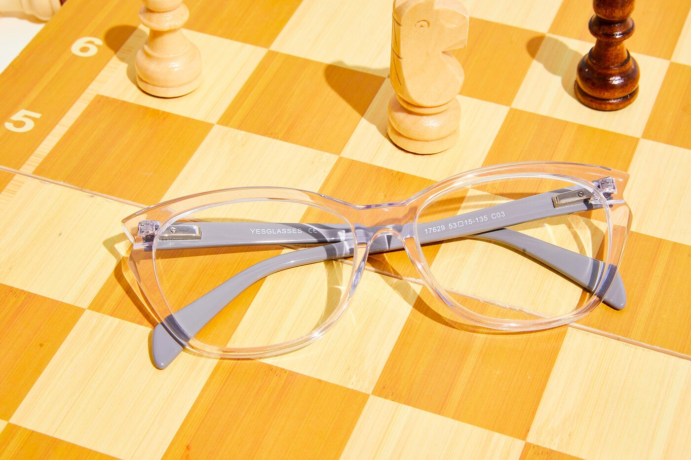 Clear Narrow Hipster Butterfly Eyeglasses