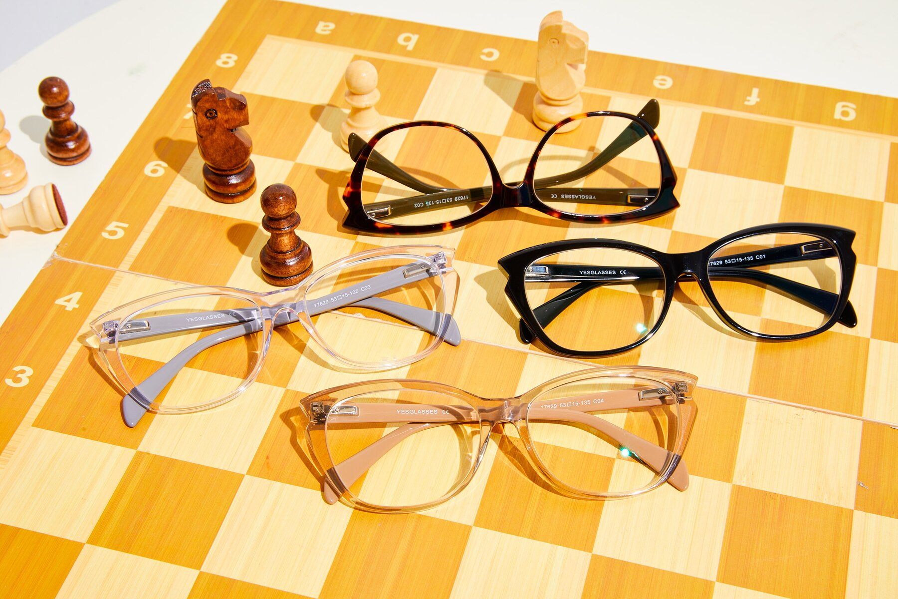 Women's lifestyle photography #4 of 17629 in Transparent Brown with Clear Eyeglass Lenses