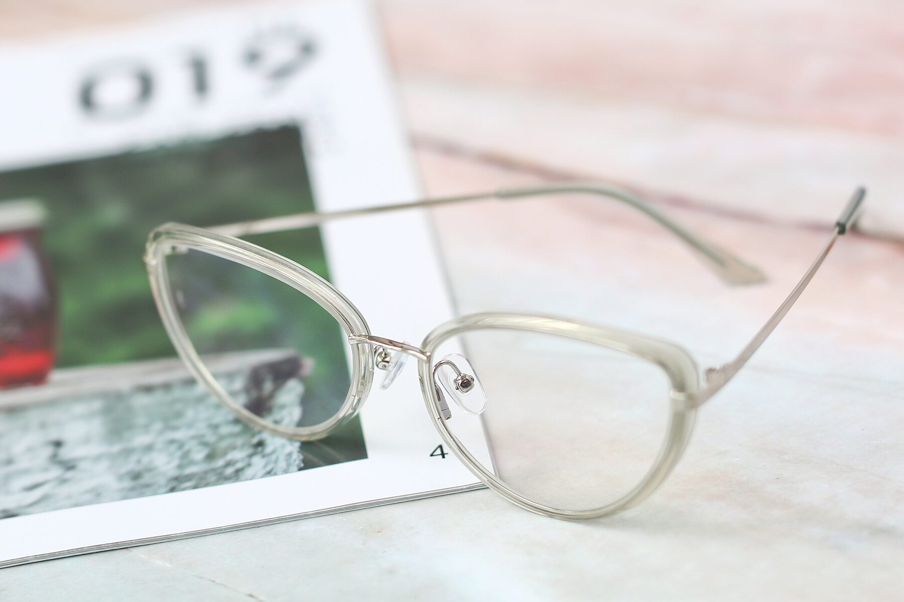 Women's lifestyle photography #2 of 17706 in Transparent Green-Silver with Clear Blue Light Blocking Lenses