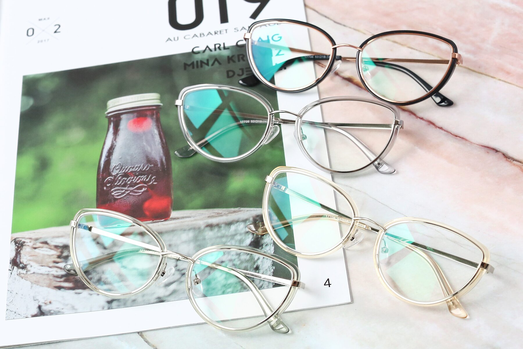 Women's lifestyle photography #4 of 17706 in Transparent Green-Silver with Clear Blue Light Blocking Lenses