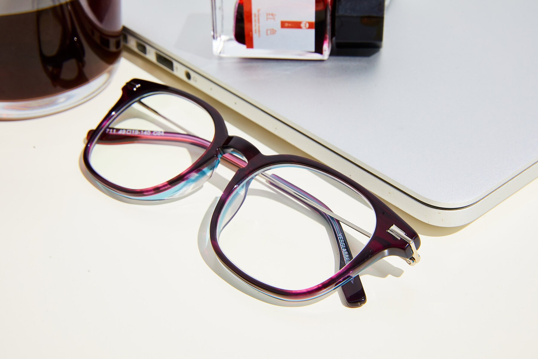 Lifestyle photography #3 of 17711 in Dark Purple with Clear Blue Light Blocking Lenses