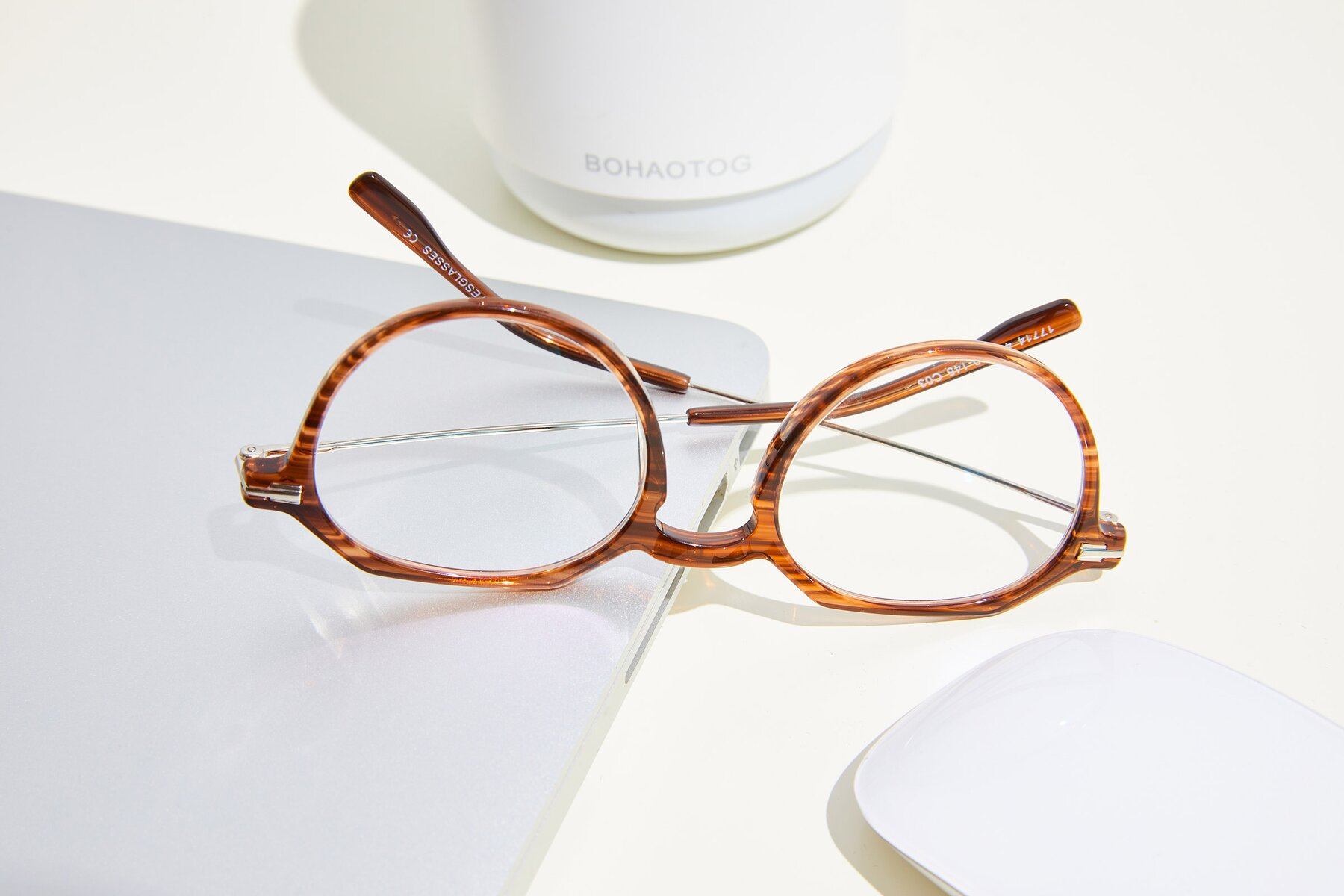 Lifestyle photography #2 of 17714 in Stripe Brown with Clear Eyeglass Lenses