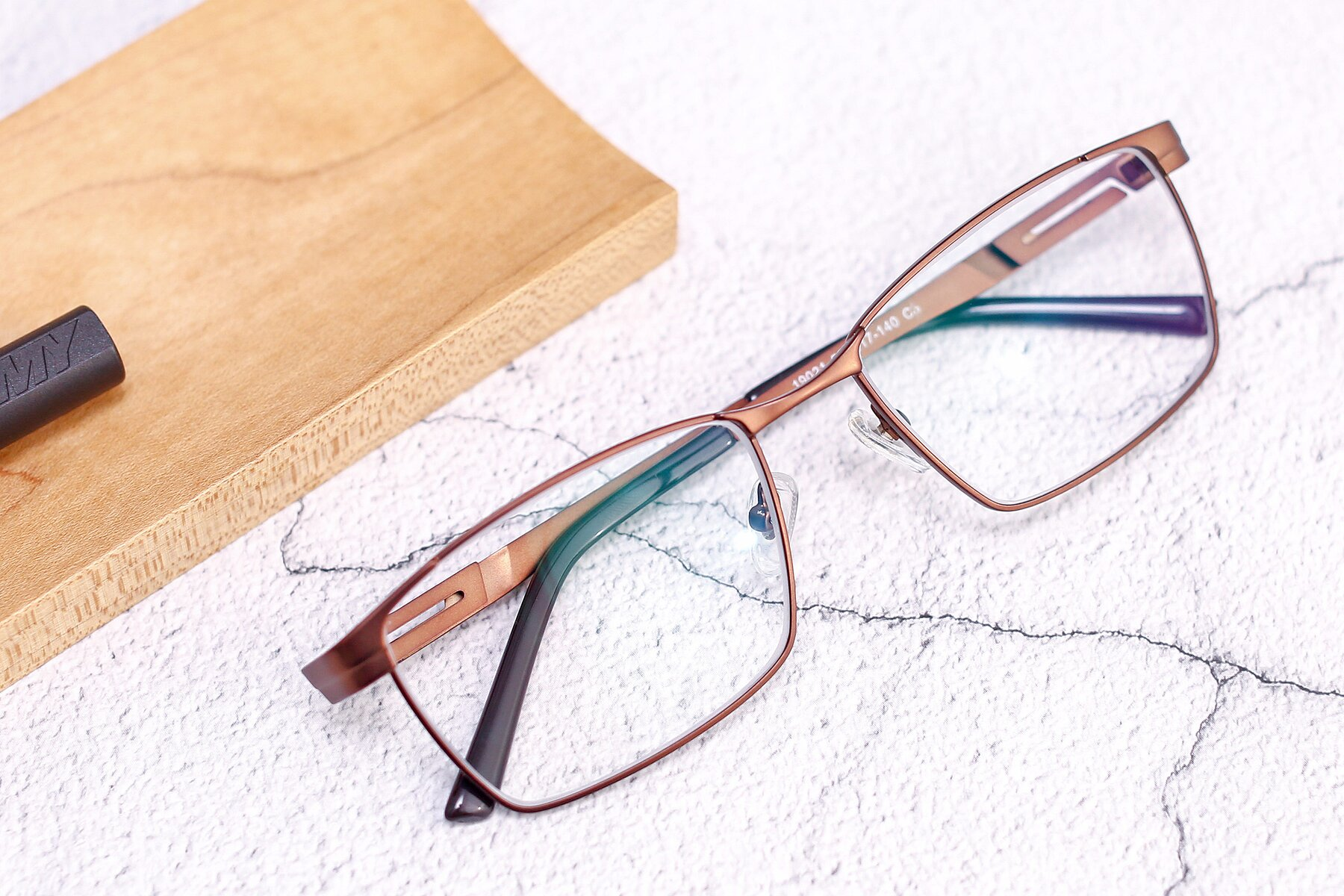 Men's lifestyle photography #1 of 19021 in Brown with Clear Blue Light Blocking Lenses
