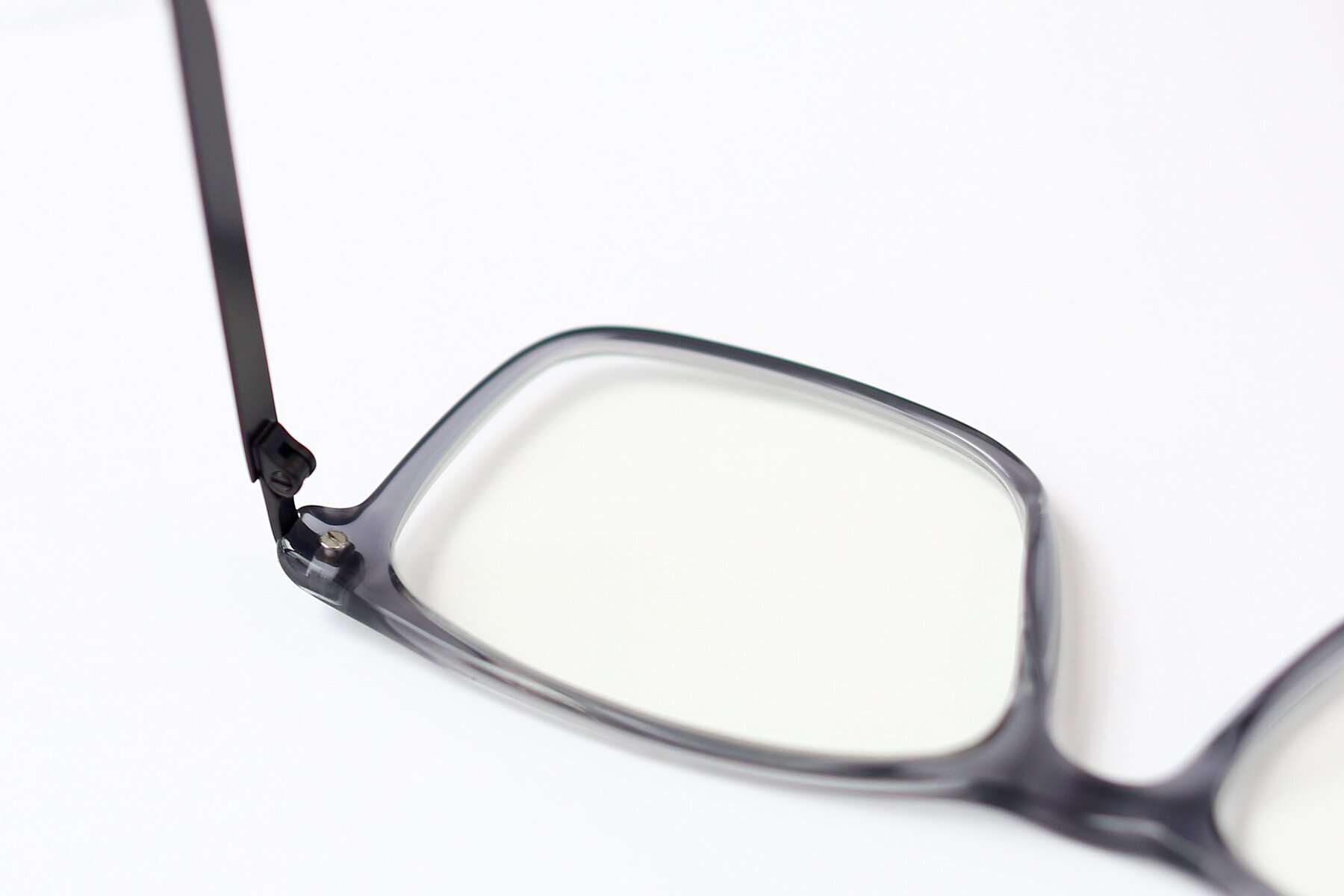 Lifestyle photography #3 of T002 in Transparent Grey with Clear Eyeglass Lenses