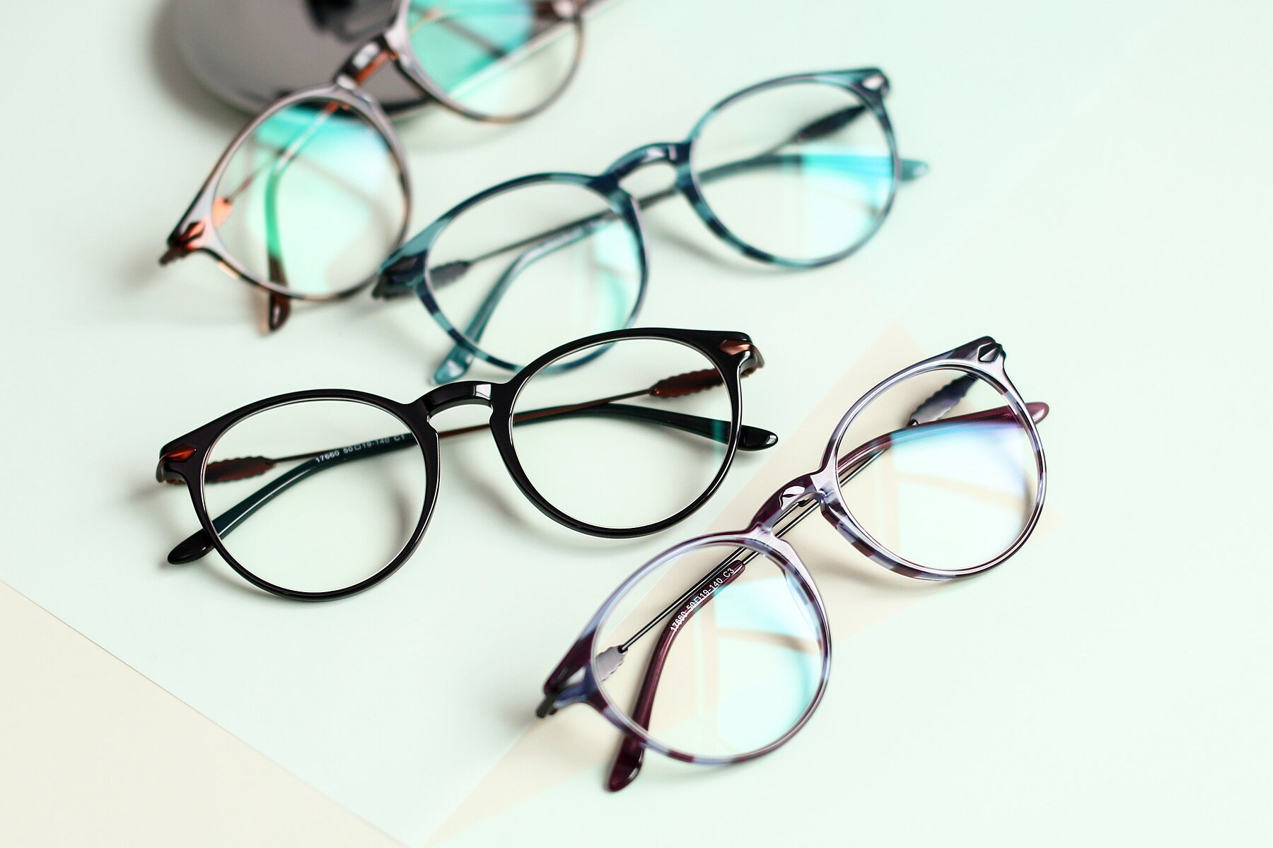 Lifestyle photography #4 of 17660 in Stripe Purple with Clear Blue Light Blocking Lenses
