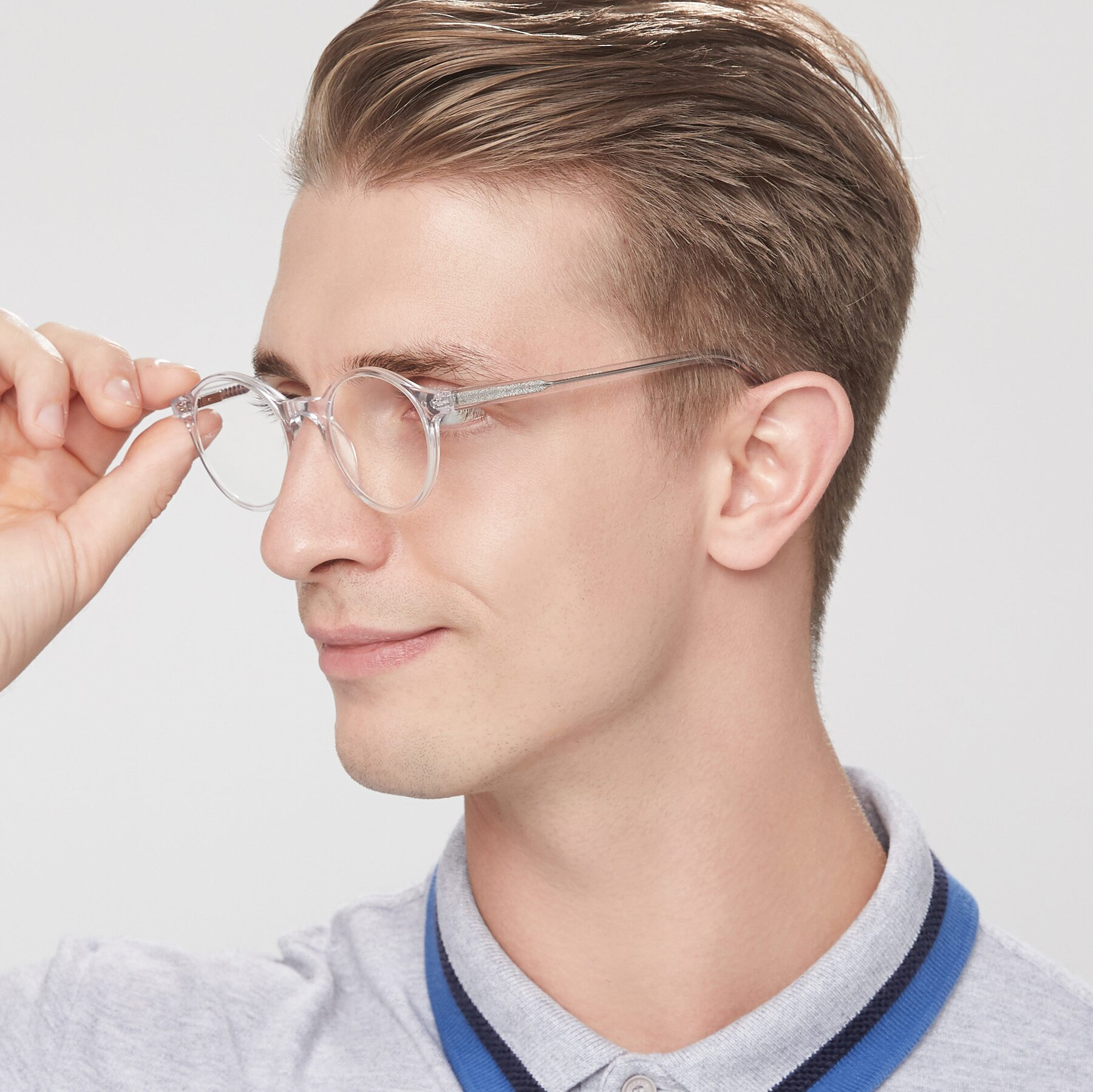 Men's lifestyle photography of 17519 in Clear with Clear Eyeglass Lenses