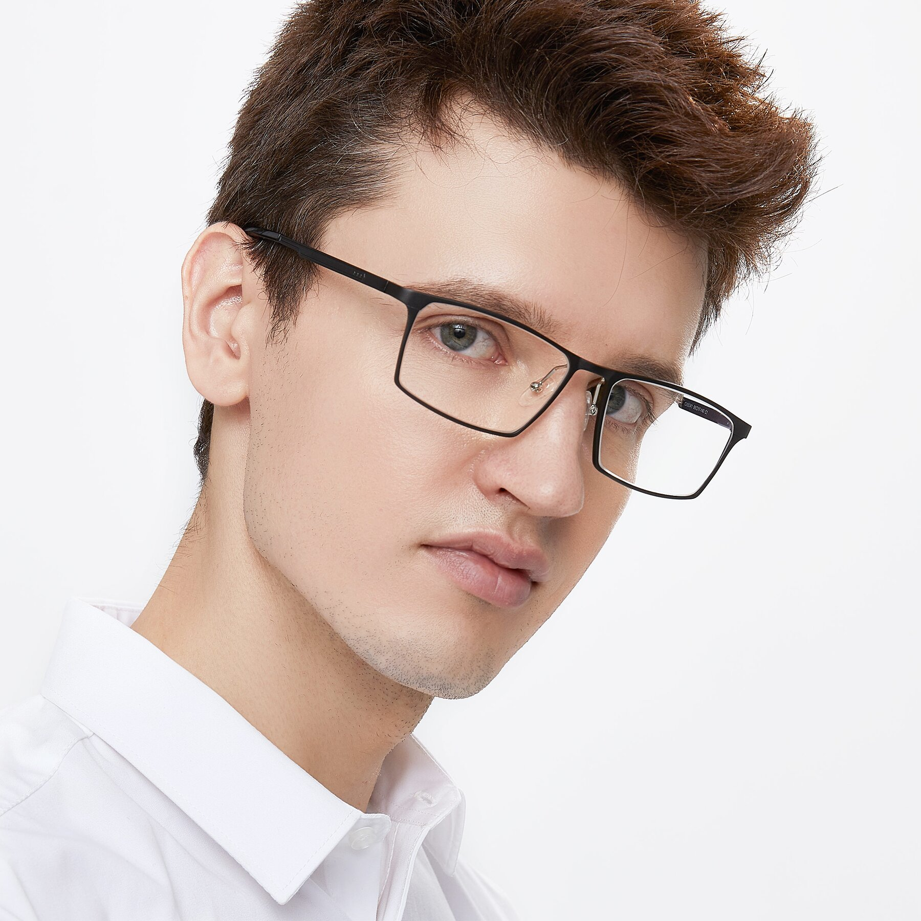 Men's lifestyle photography of CX6341 in Coffee with Clear Eyeglass Lenses