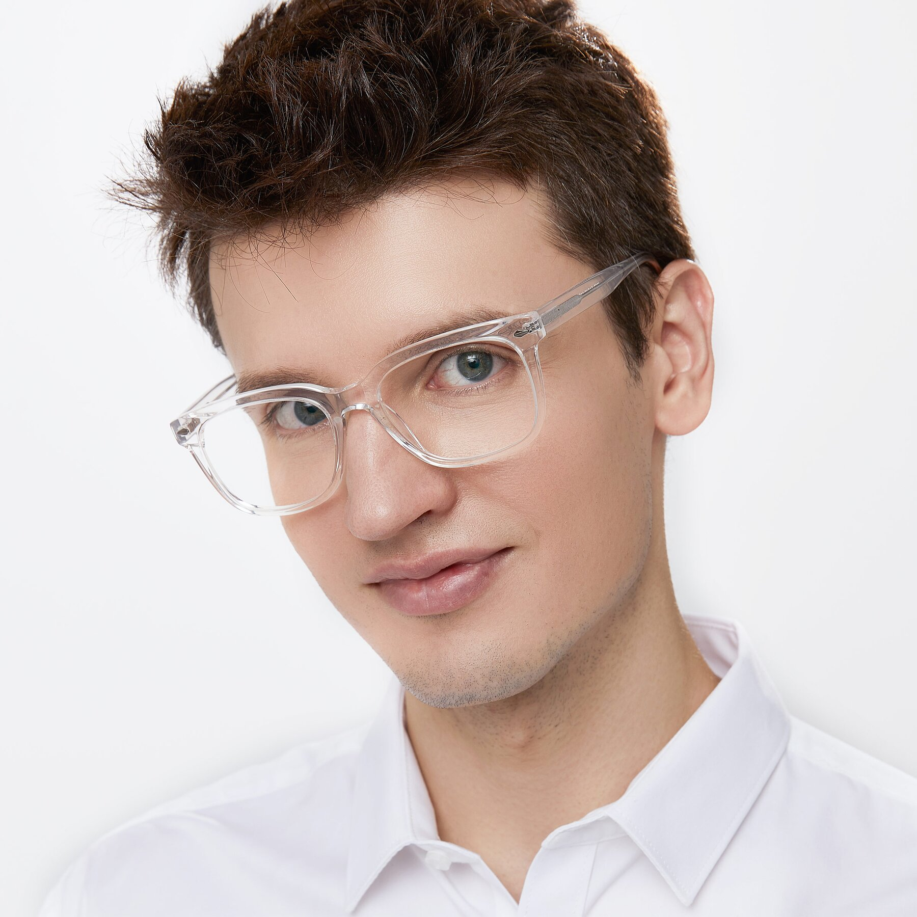 Men's lifestyle photography of 1052 in Clear with Clear Eyeglass Lenses