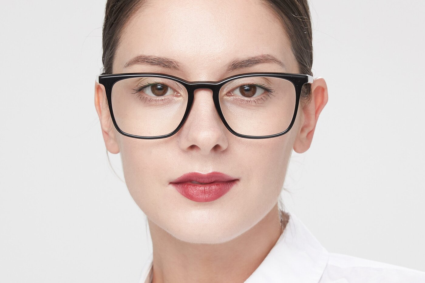 Black Keyhole Bridge Acetate Square Eyeglasses