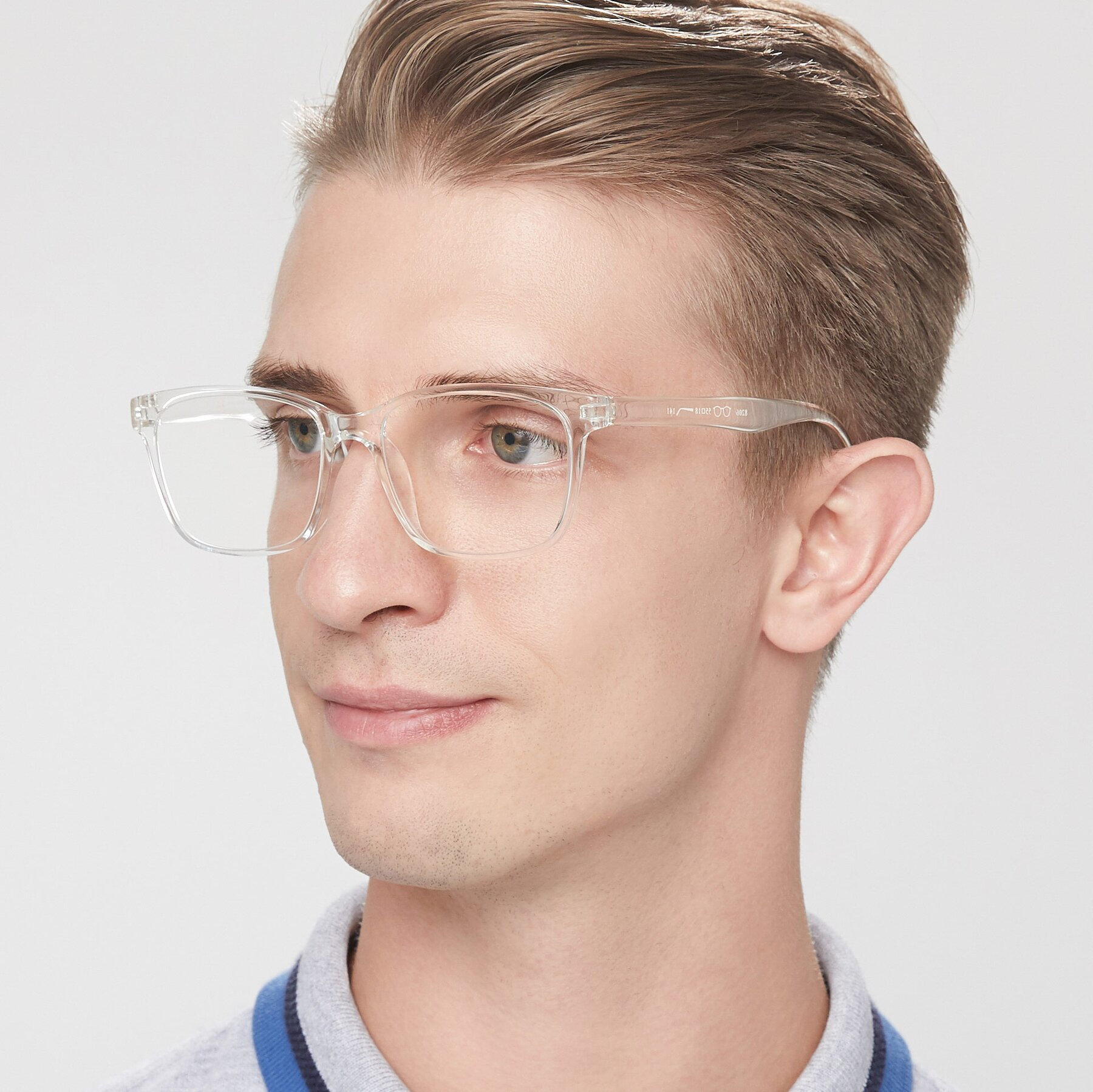Men's lifestyle photography of 8206 in Clear with Clear Eyeglass Lenses