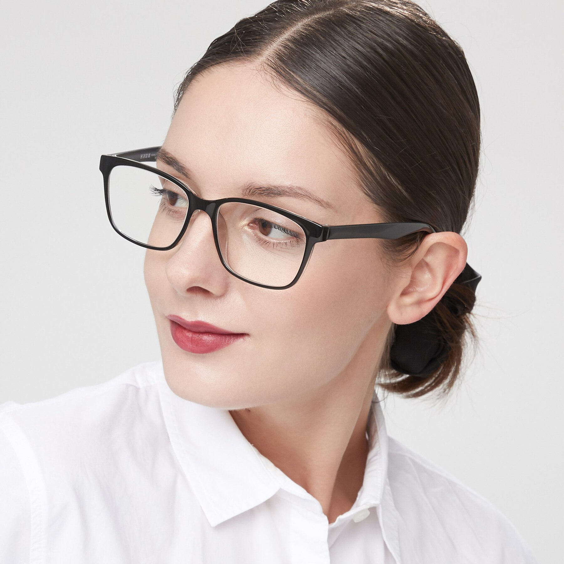 Women's lifestyle photography of 8206 in Black-Clear with Clear Blue Light Blocking Lenses