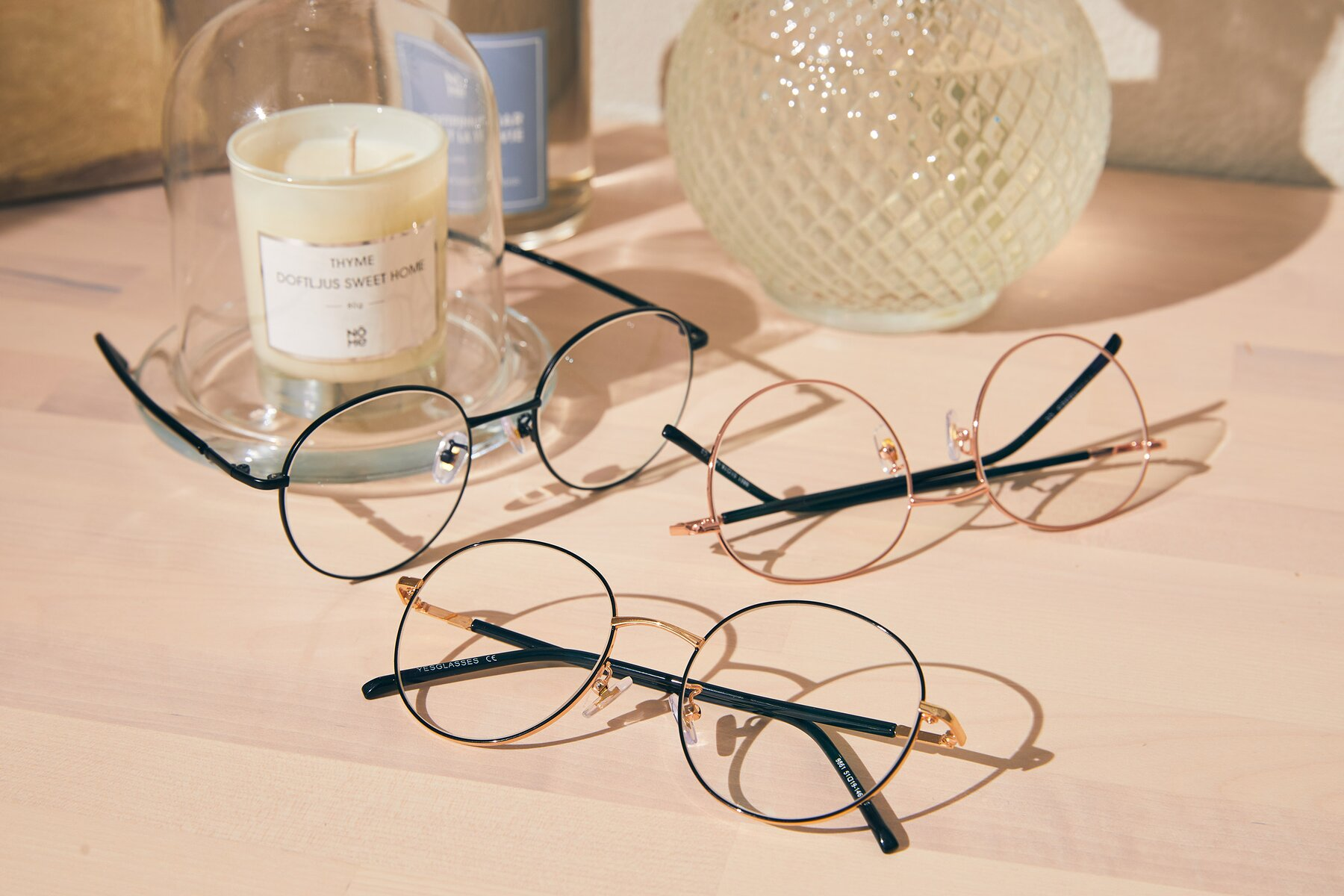 Lifestyle photography #4 of Cosmos in Black-Gold with Clear Eyeglass Lenses