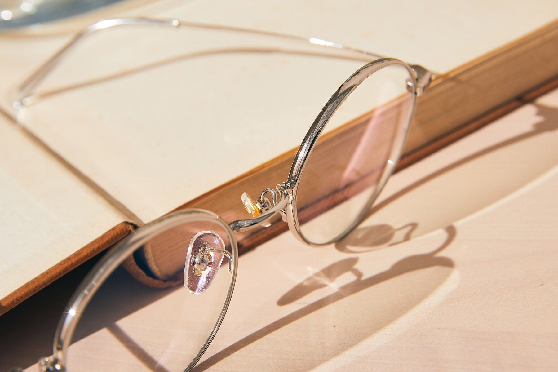 Lifestyle photography #3 of Moore in Silver with Clear Blue Light Blocking Lenses