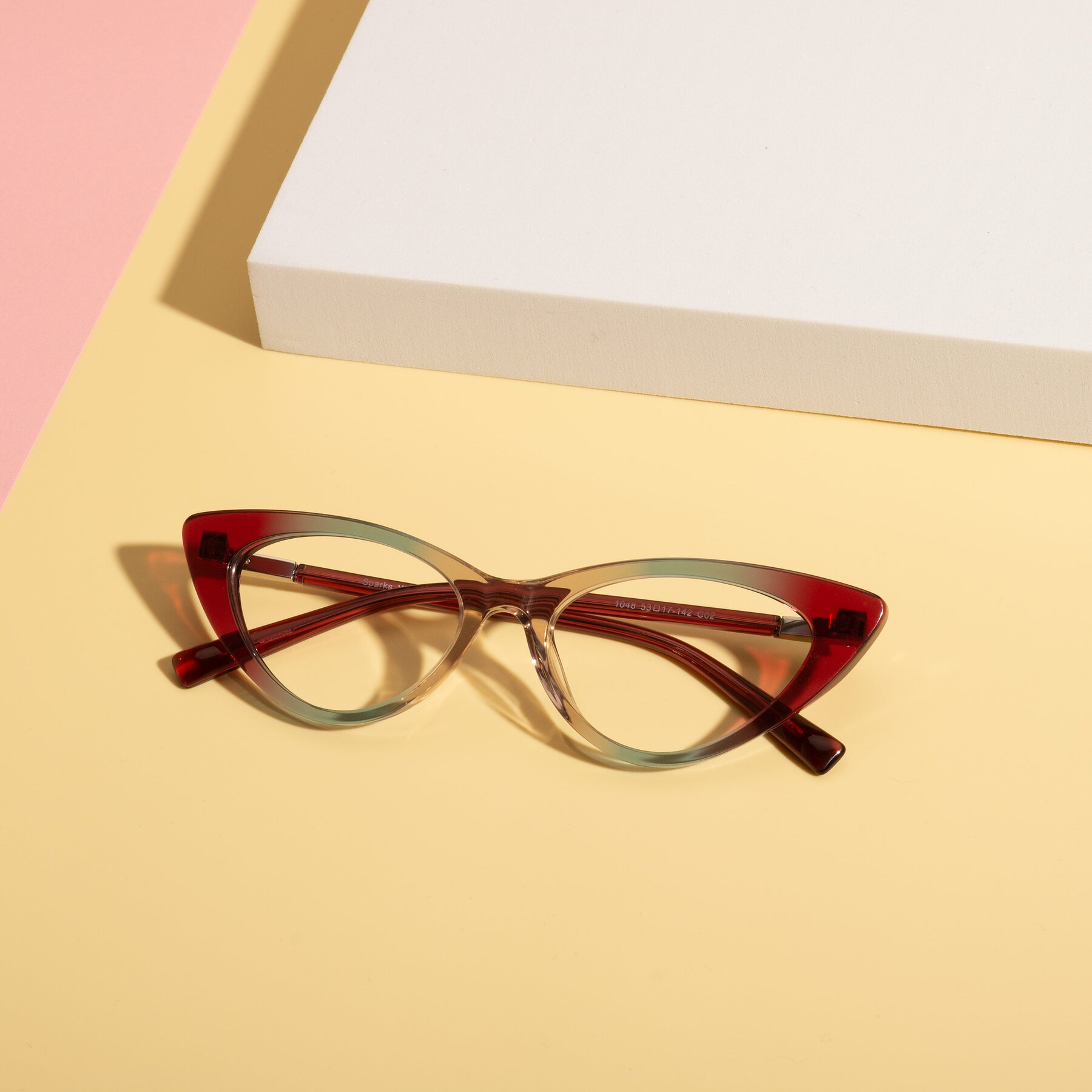 Lifestyle photography #1 of Sparks in Transparent Gradient Purple with Clear Eyeglass Lenses