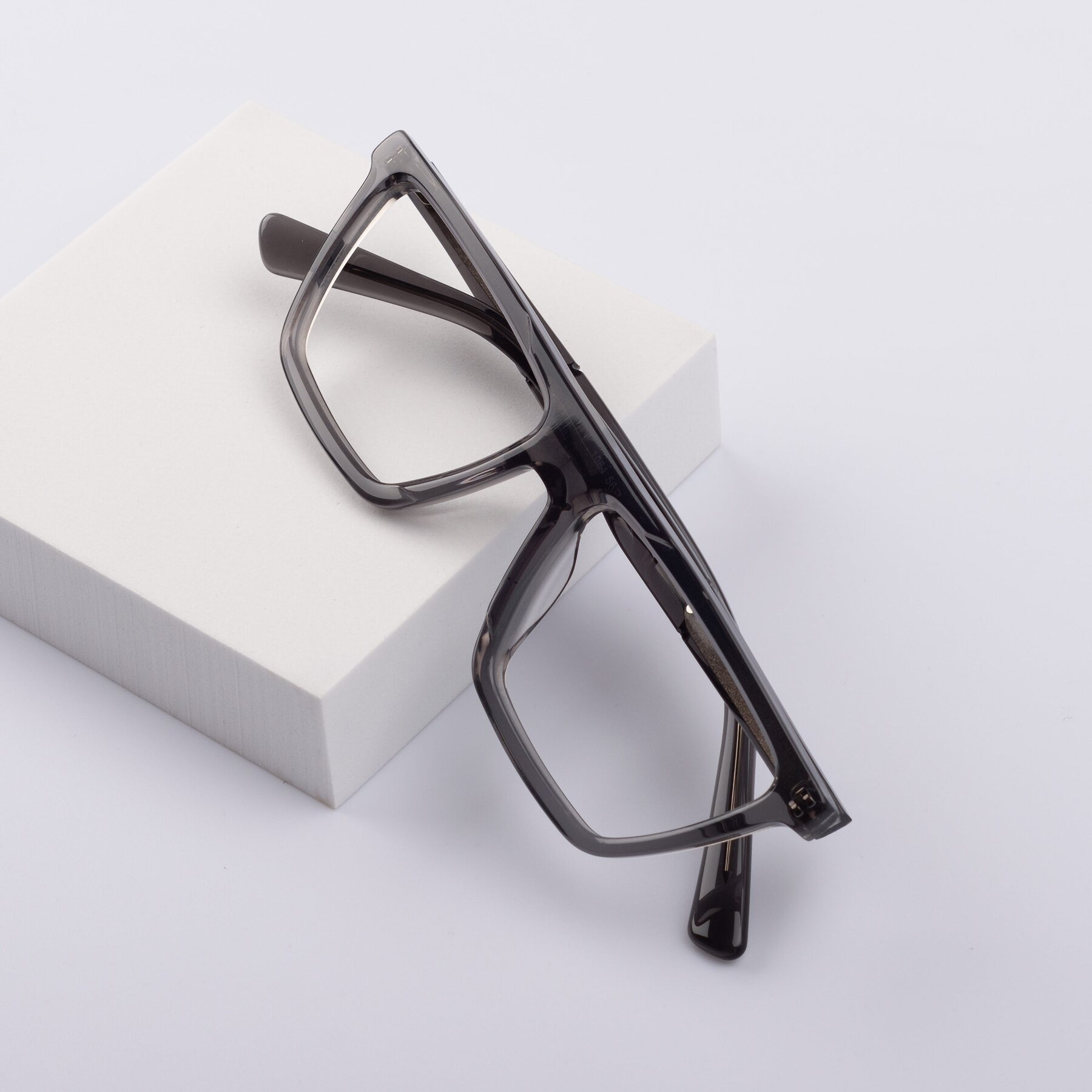 Lifestyle photography #1 of Miles in Translucent Gray with Clear Blue Light Blocking Lenses
