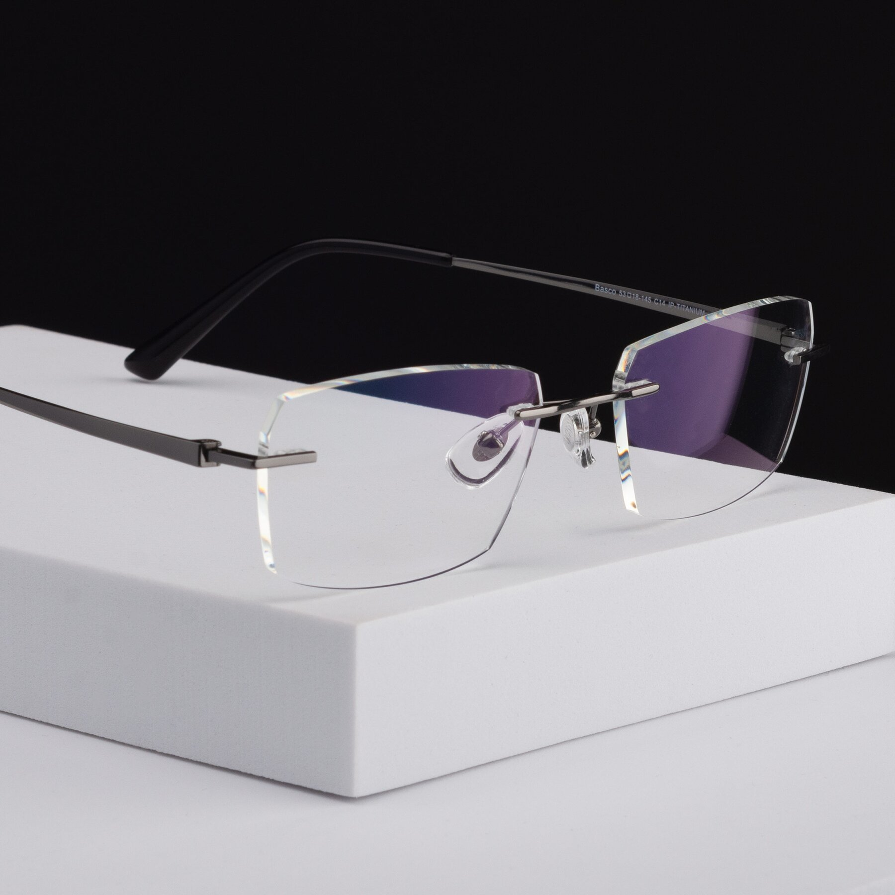 Men's lifestyle photography #1 of Basco in Gun with Clear Blue Light Blocking Lenses