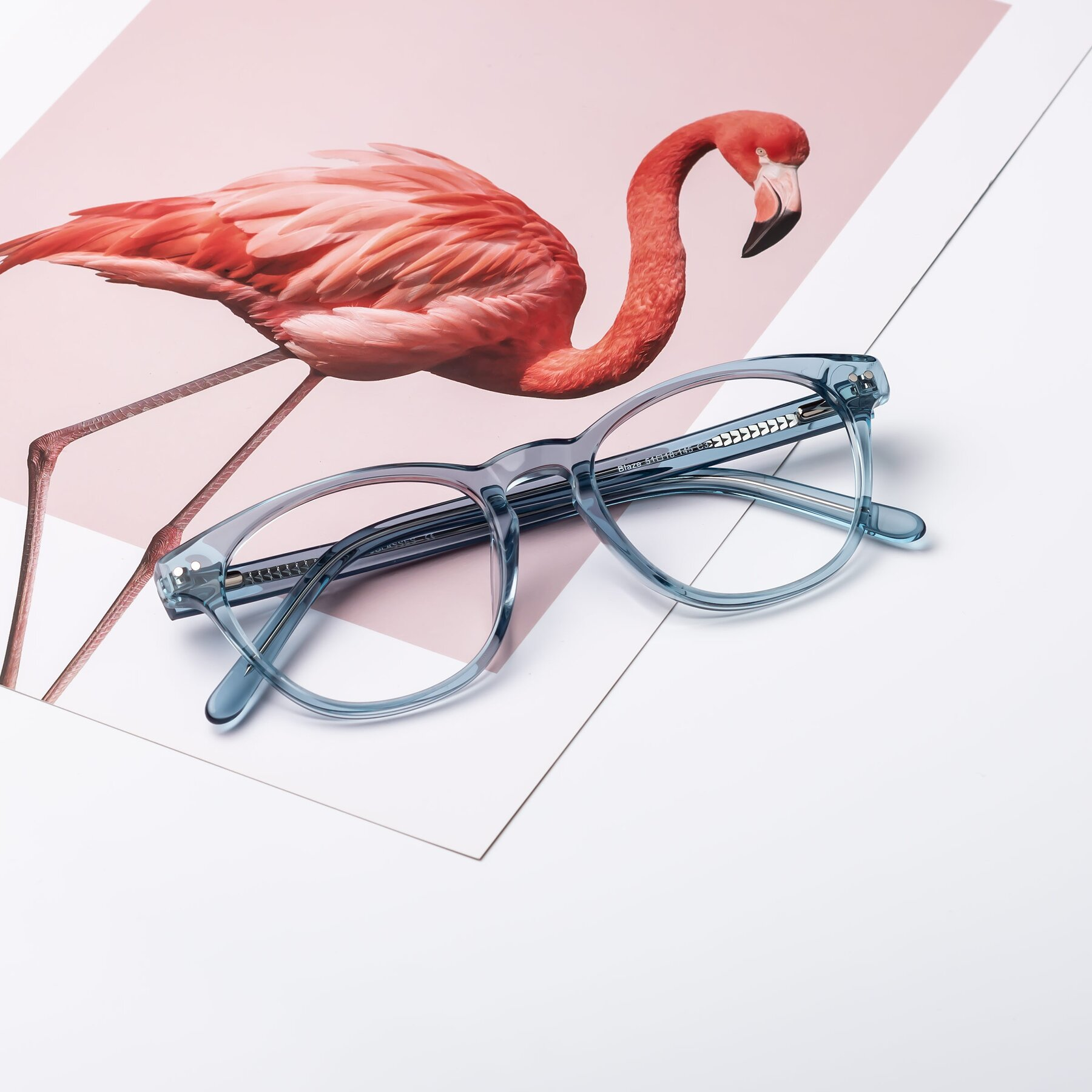 Lifestyle photography #1 of Blaze in Light Blue with Clear Eyeglass Lenses