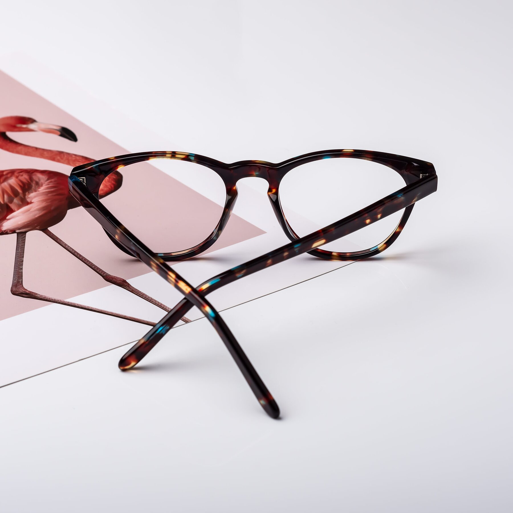 Lifestyle photography #2 of Blaze in Tortoise-Blue with Clear Eyeglass Lenses