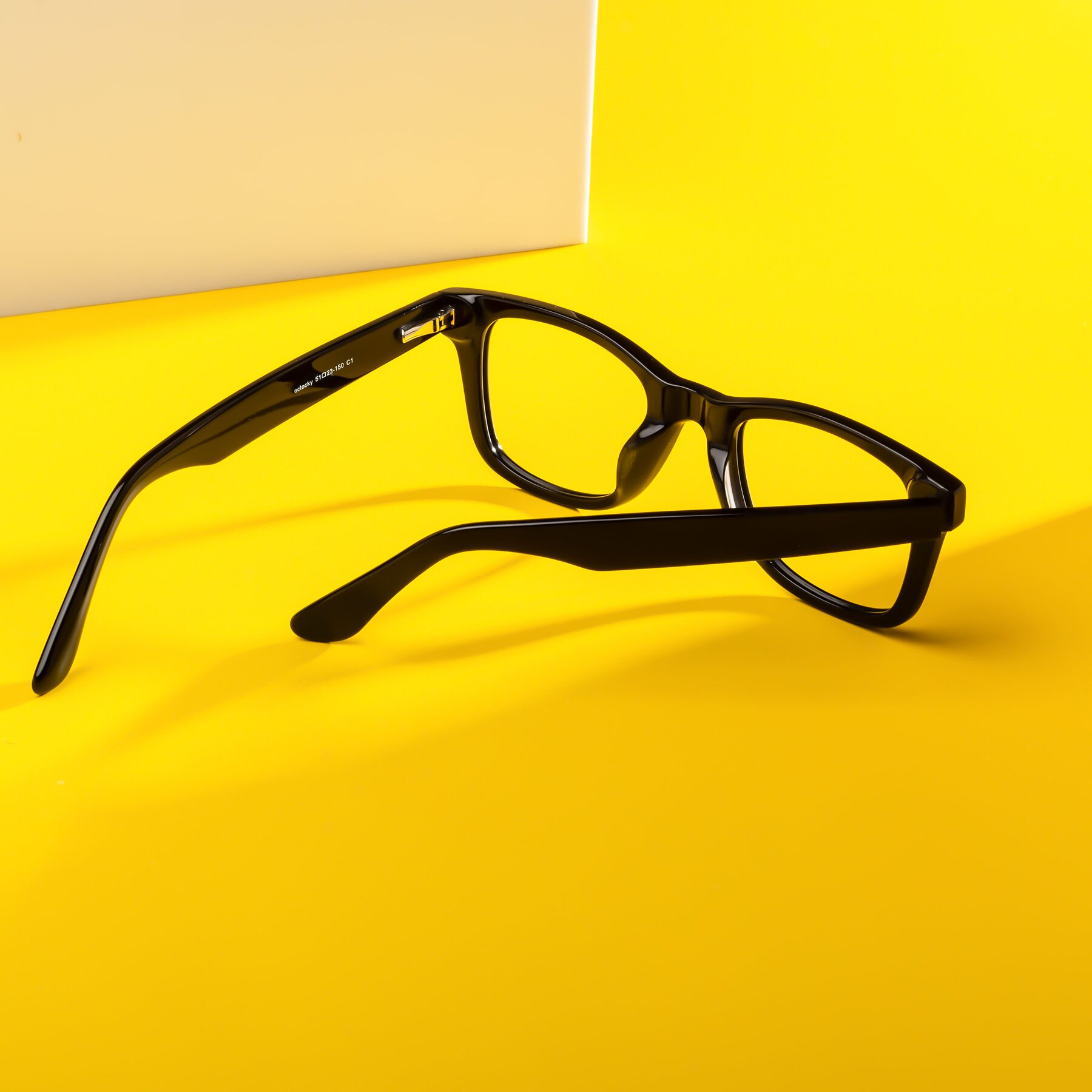 Lifestyle photography #2 of Rocky in Black with Clear Blue Light Blocking Lenses