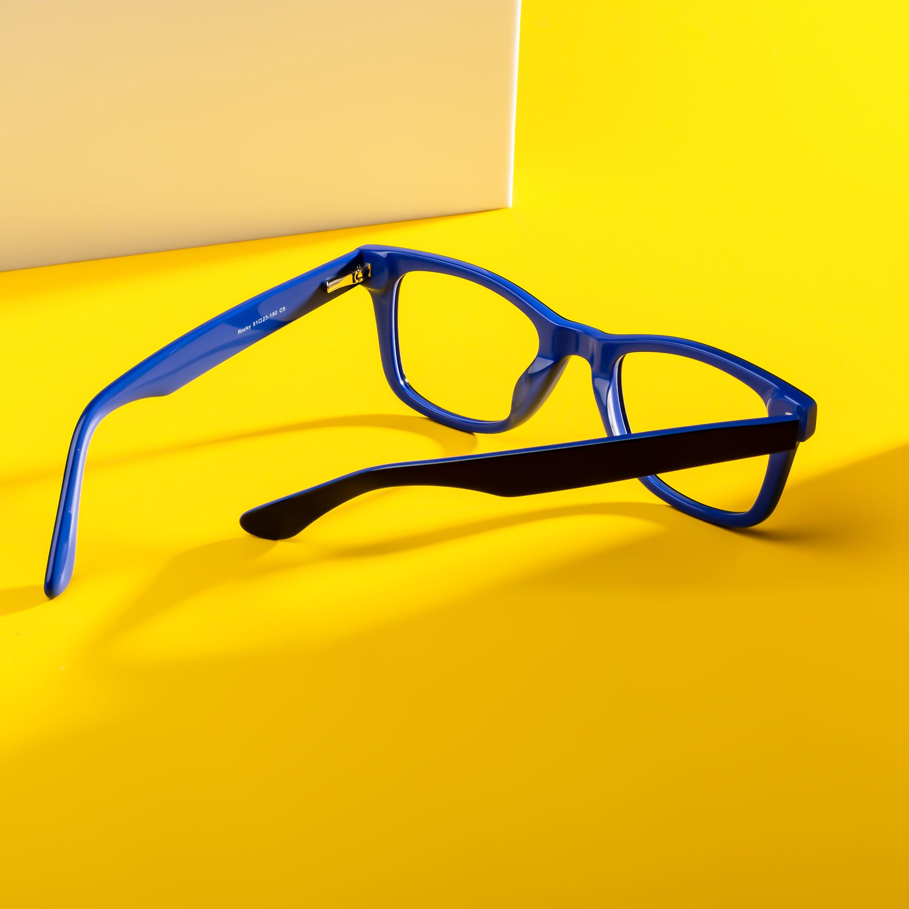 Lifestyle photography #2 of Rocky in Black-Blue with Clear Blue Light Blocking Lenses