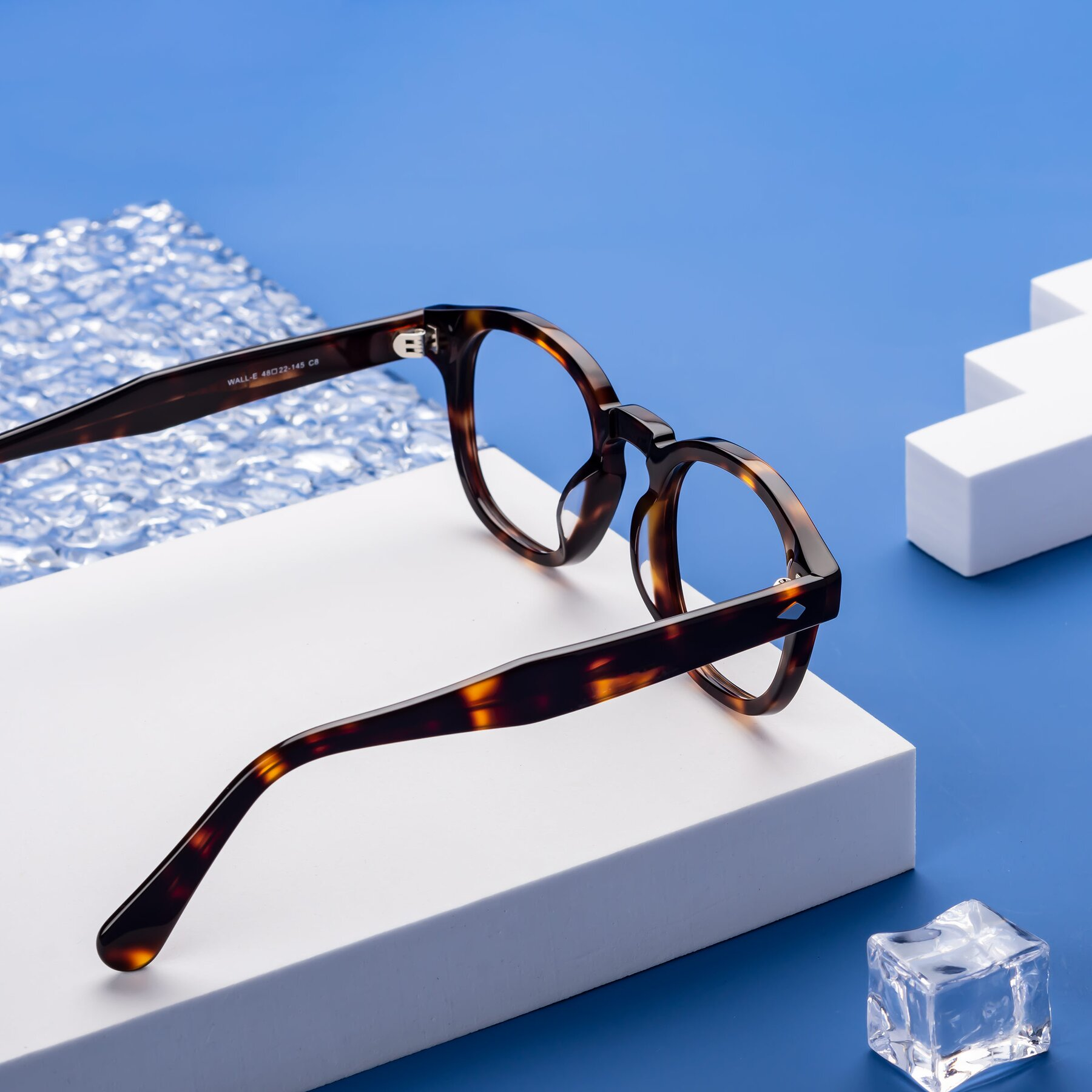 Lifestyle photography #2 of WALL-E in Tortoise with Clear Blue Light Blocking Lenses