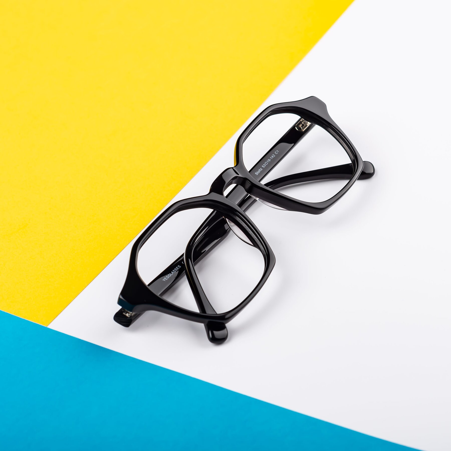 Lifestyle photography #2 of Stoltz in Black with Clear Eyeglass Lenses