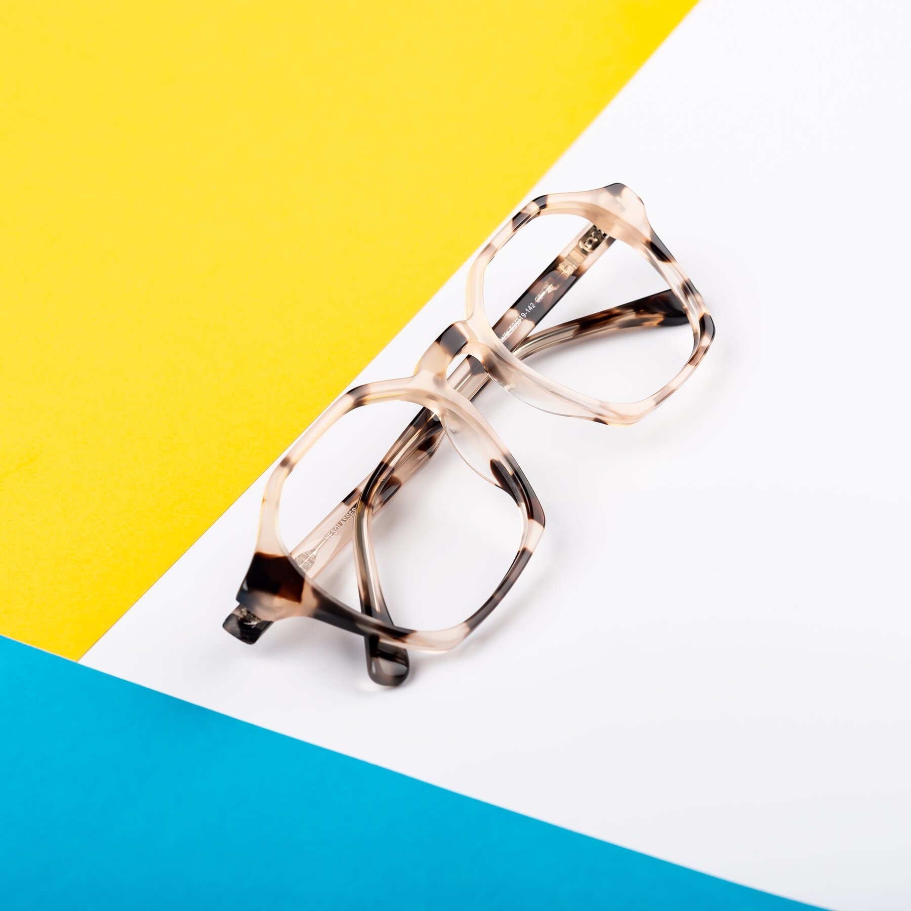 Lifestyle photography #2 of Stoltz in Leopard-Print with Clear Blue Light Blocking Lenses