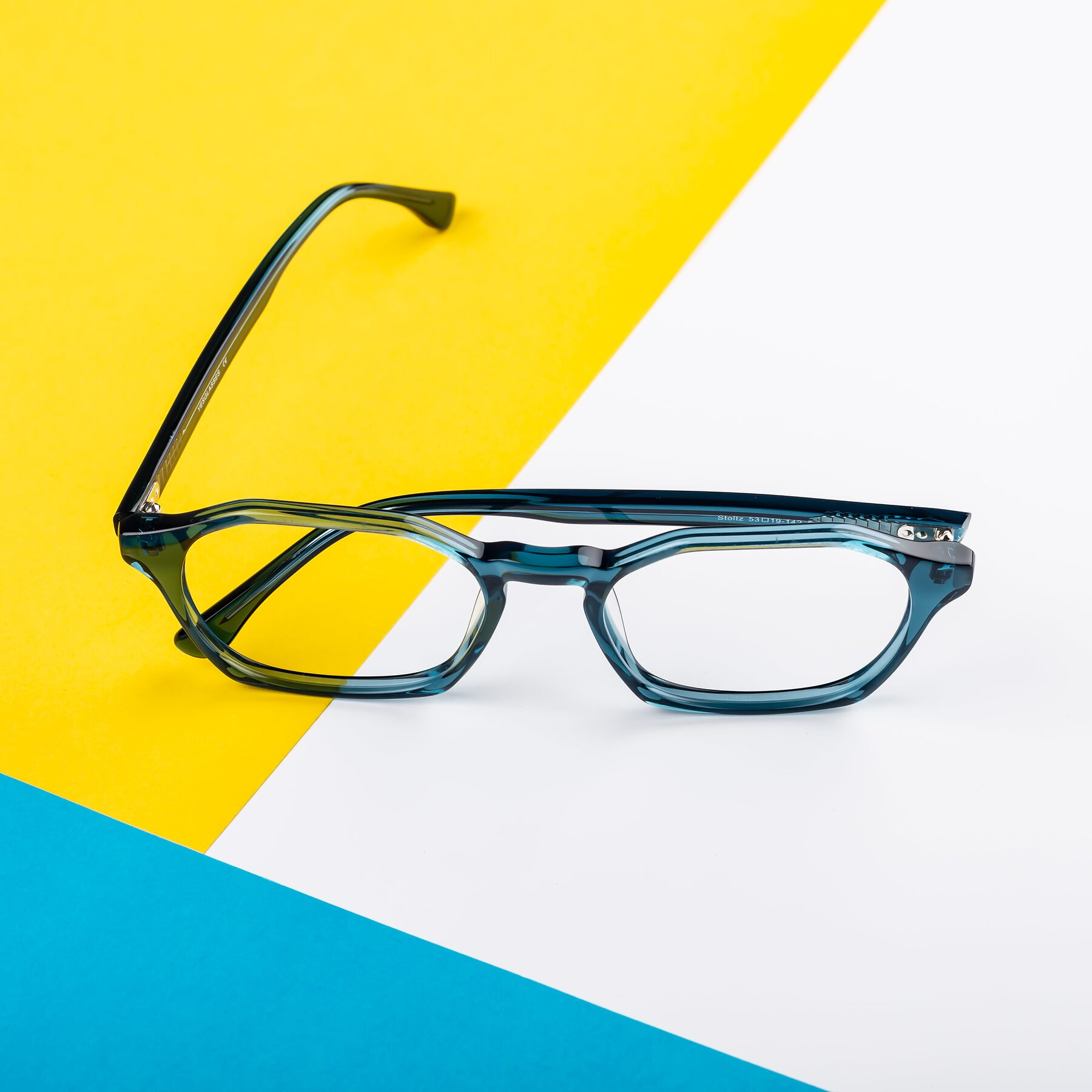 Lifestyle photography #1 of Stoltz in Ink Blue with Clear Eyeglass Lenses