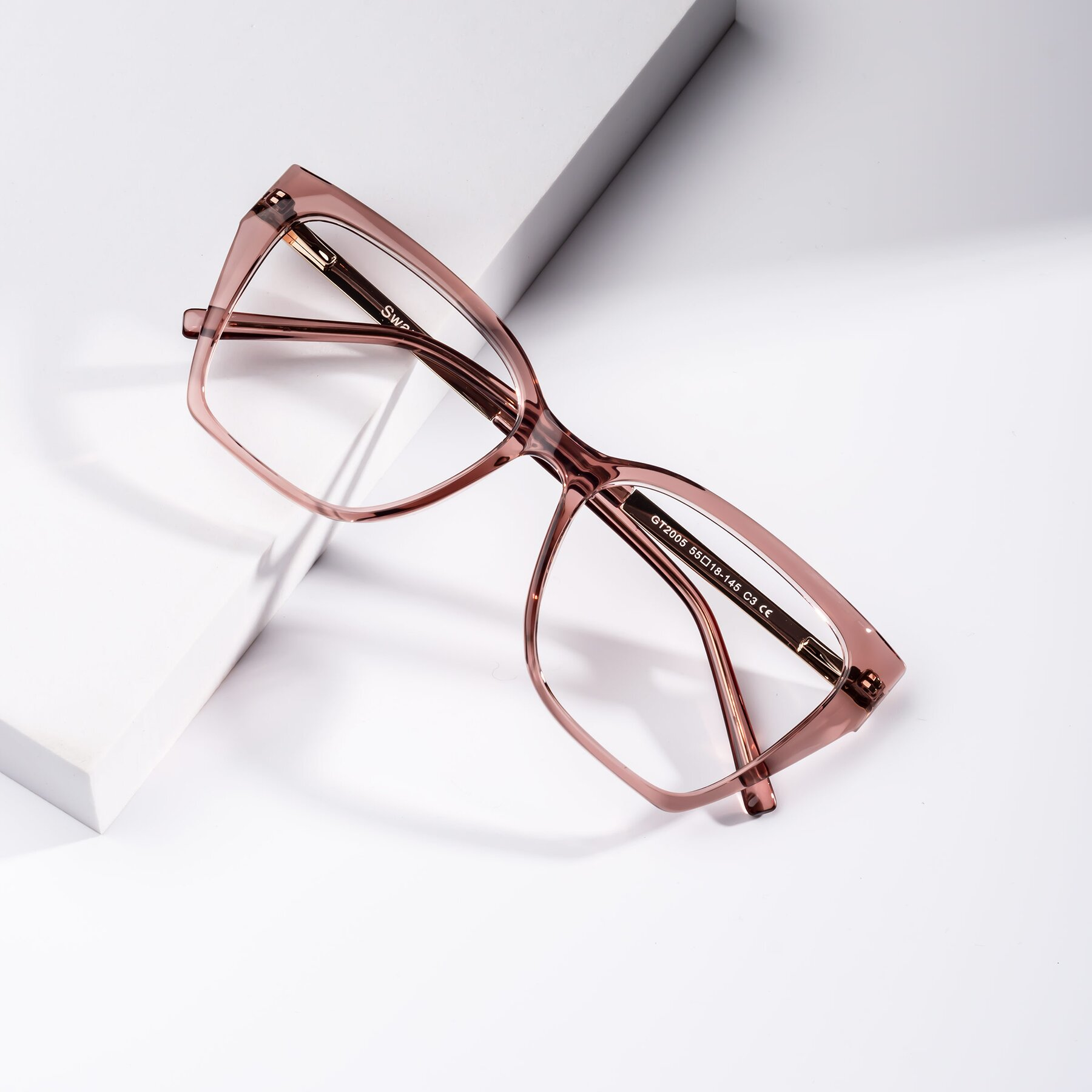 Women's lifestyle photography #1 of Swartz in Grape with Clear Eyeglass Lenses
