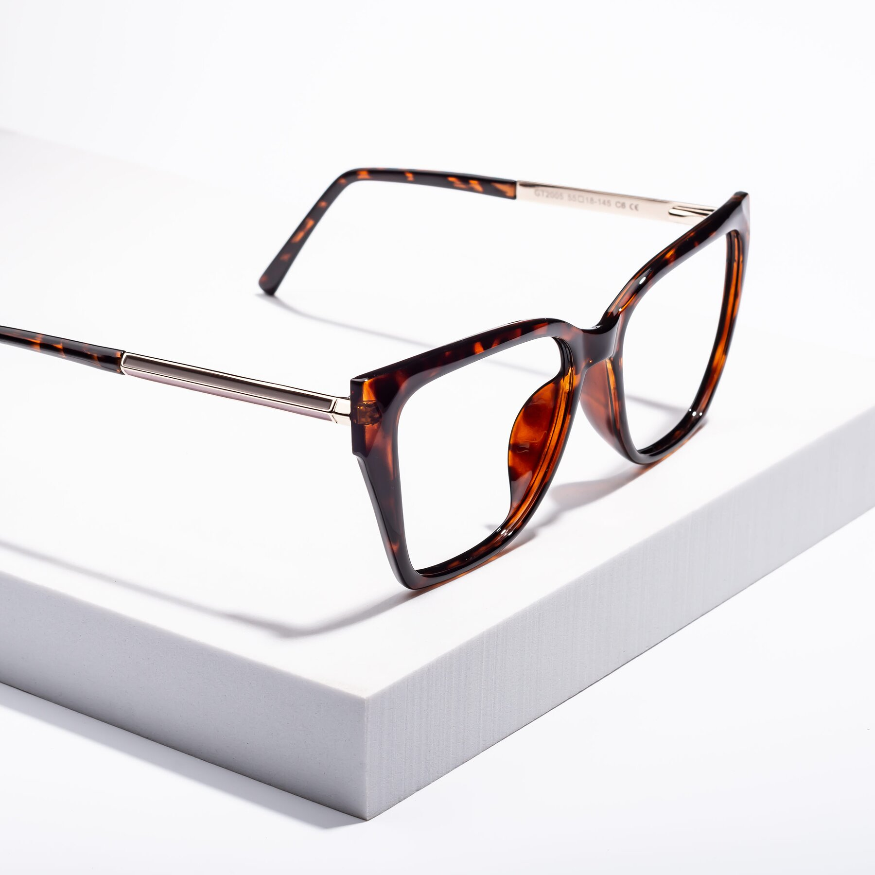 Women's lifestyle photography #2 of Swartz in Tortoise with Clear Blue Light Blocking Lenses