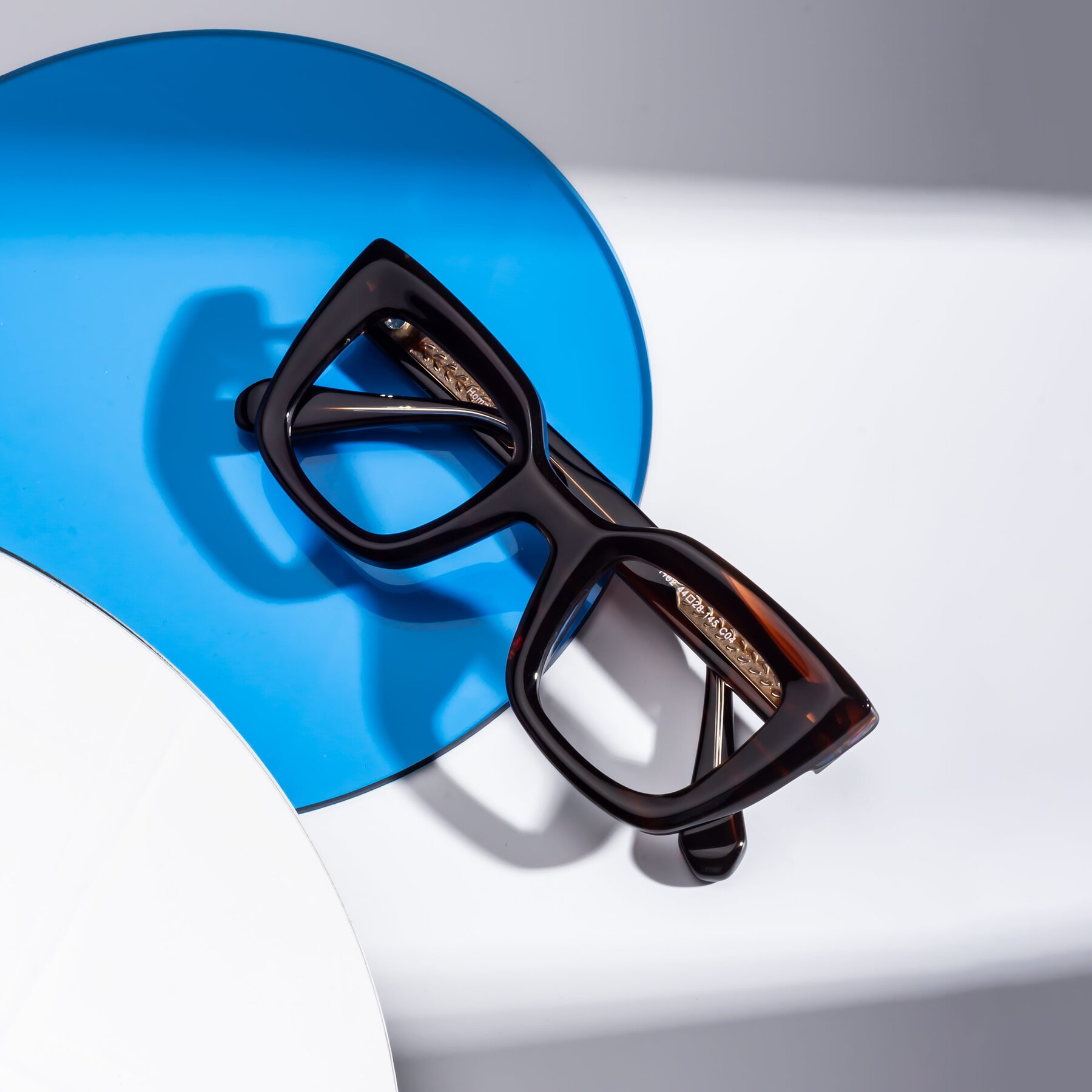 Lifestyle photography #1 of Homan in Dark Brown with Clear Blue Light Blocking Lenses