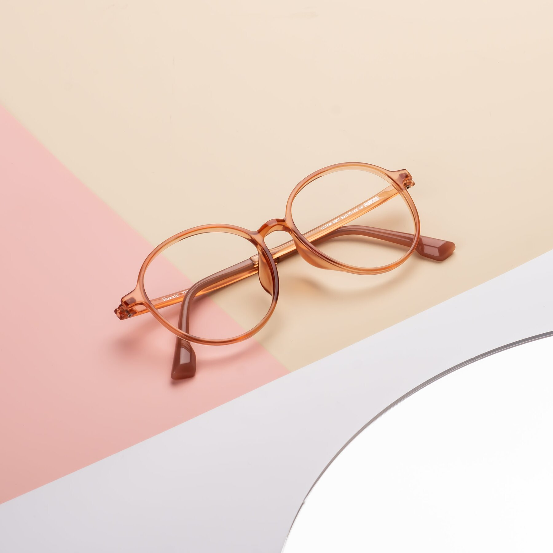 Lifestyle photography #1 of Howard in Coral with Clear Eyeglass Lenses