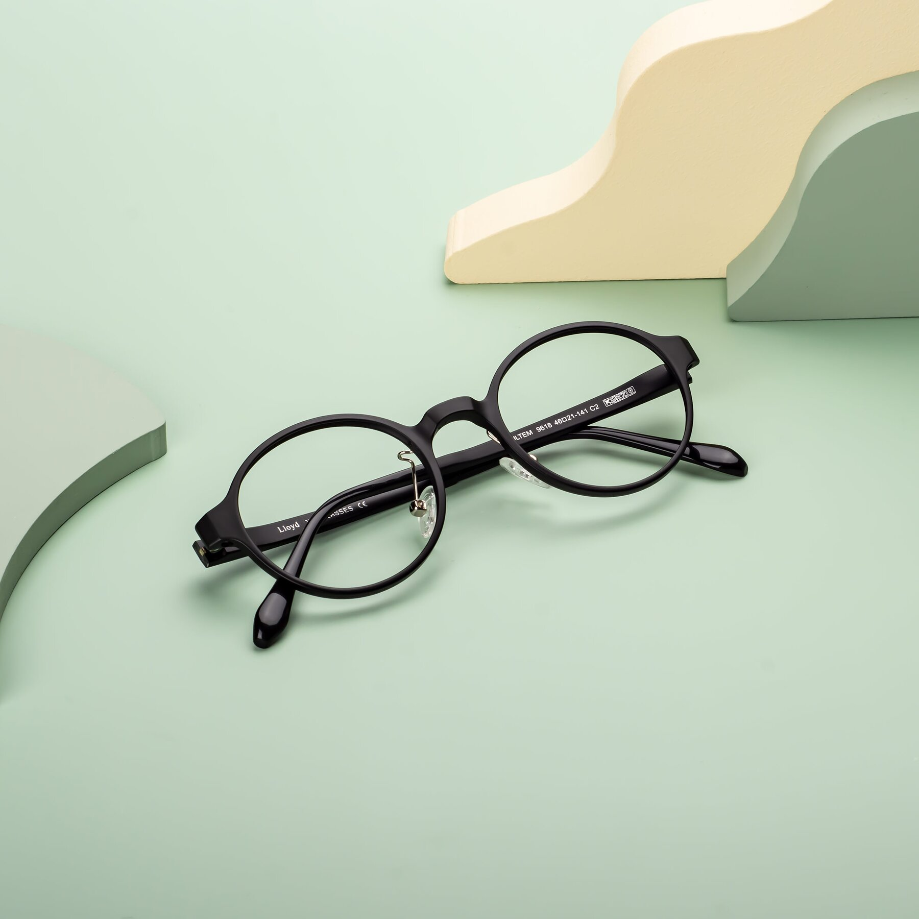 Lifestyle photography #1 of Lloyd in Matte Black with Clear Blue Light Blocking Lenses