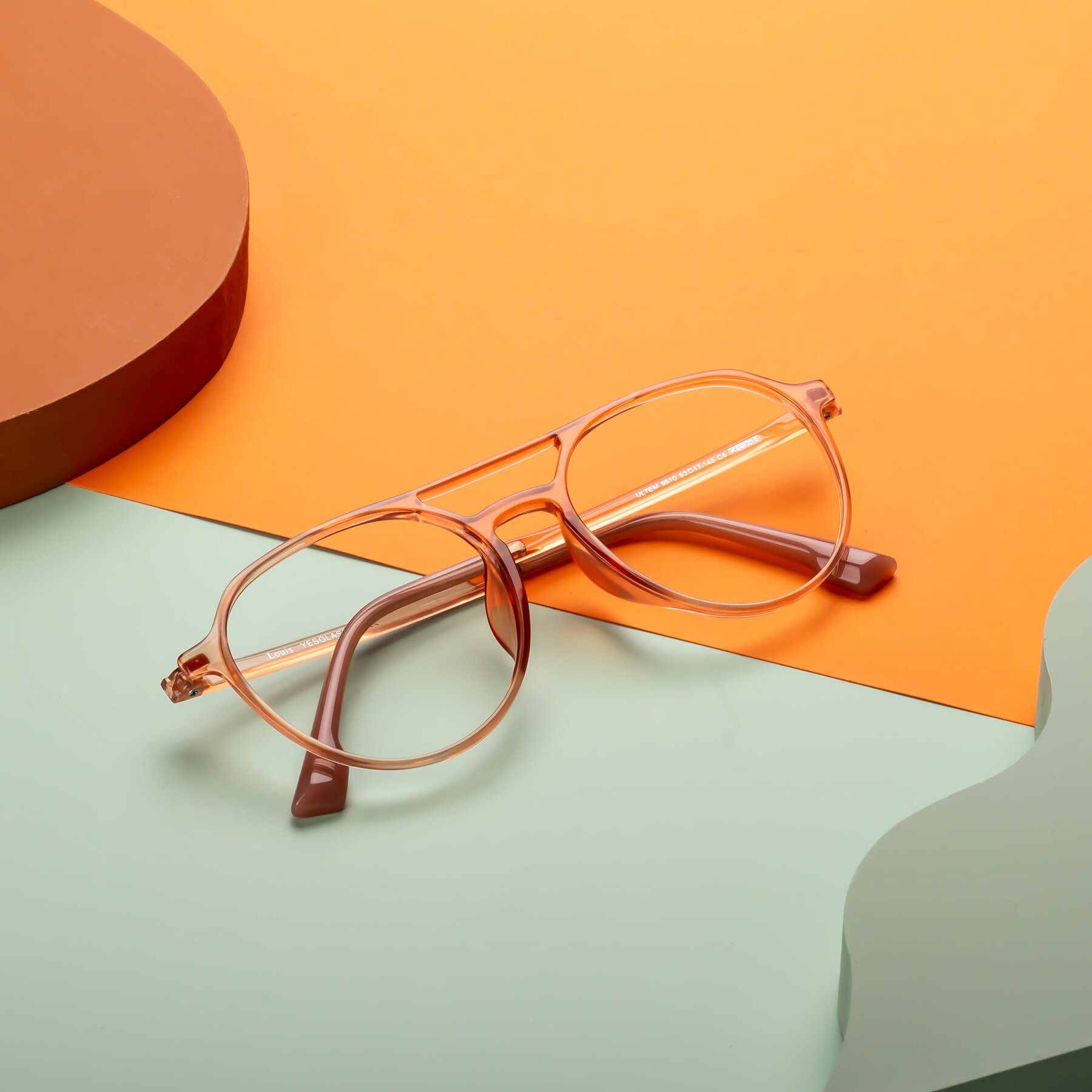 Lifestyle photography #1 of Louis in Coral with Clear Eyeglass Lenses
