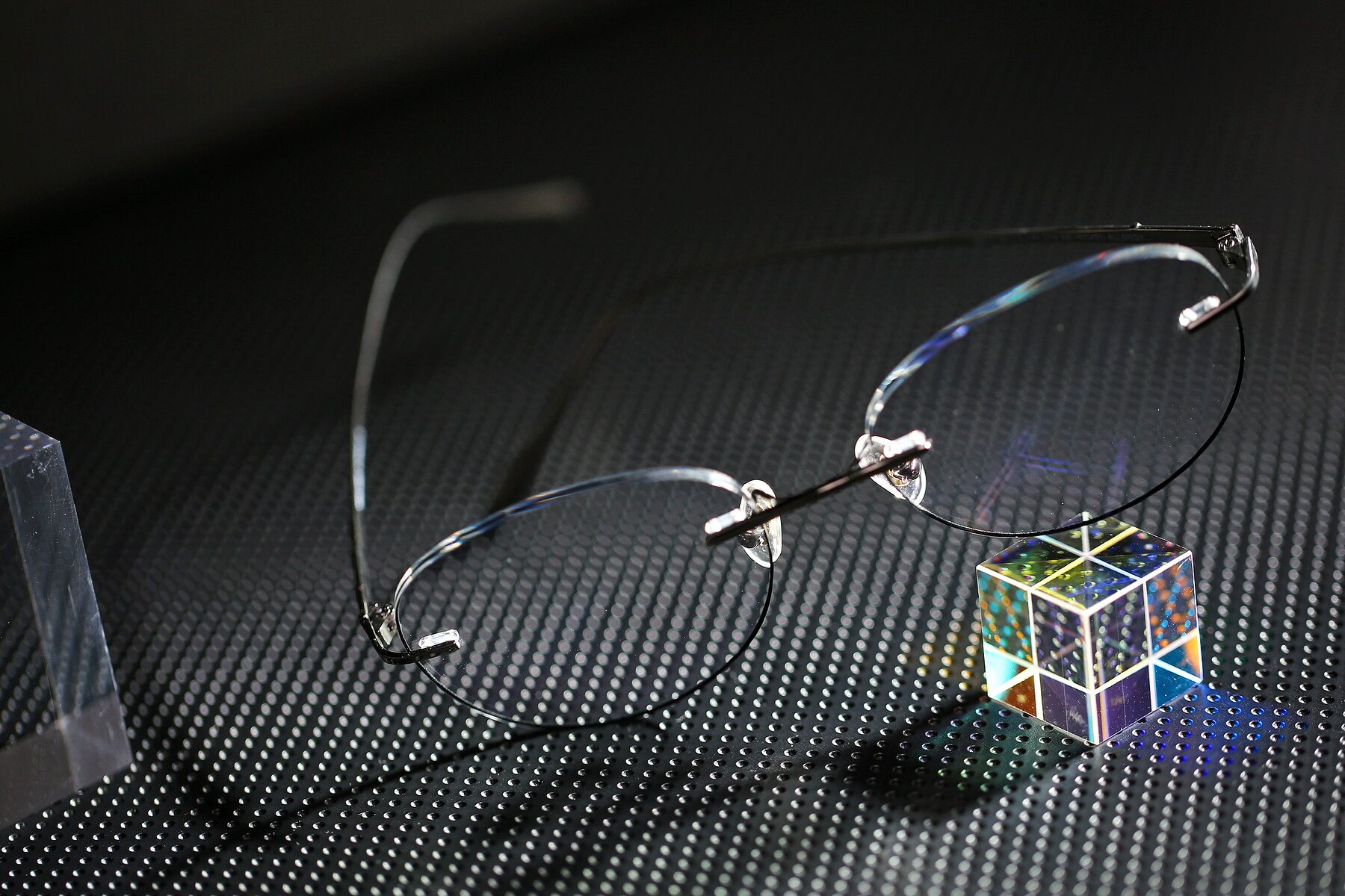 Lifestyle photography #2 of Y7009 in Gun-Black with Clear Blue Light Blocking Lenses