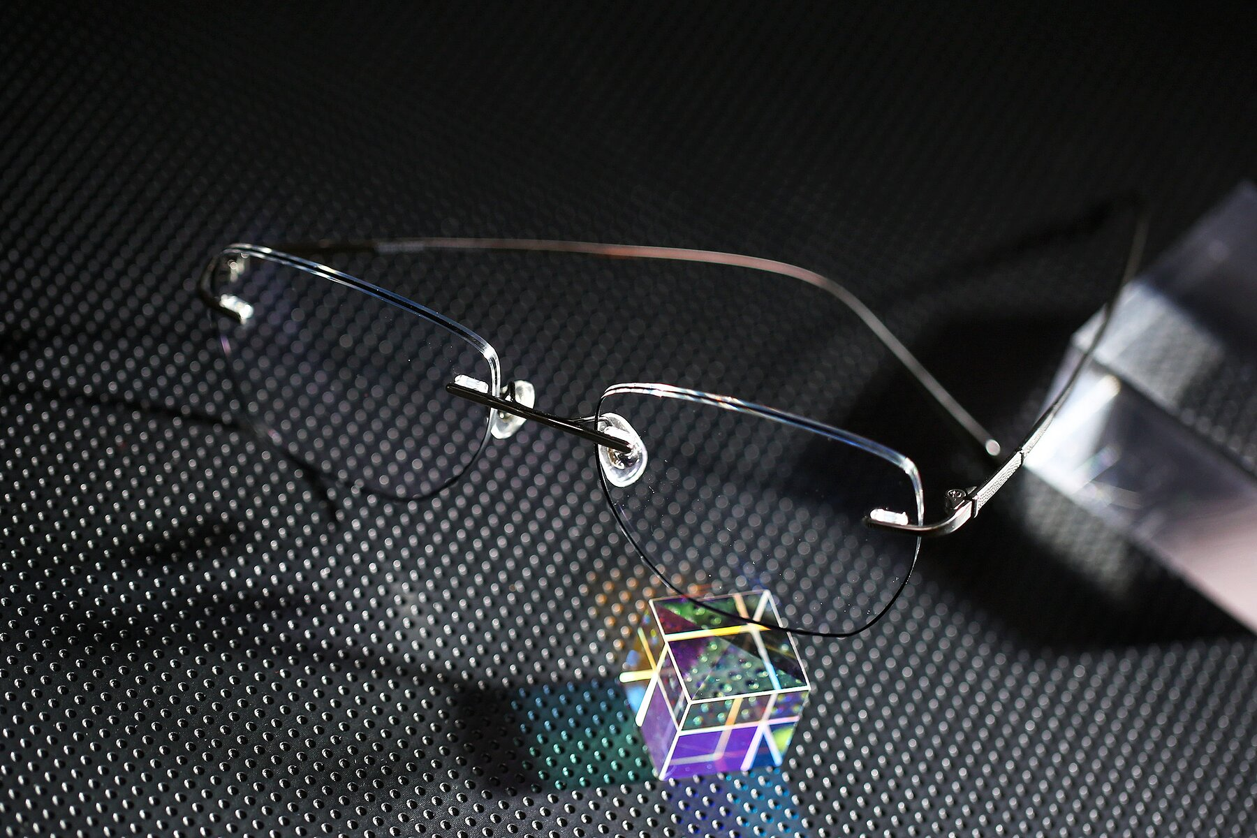 Lifestyle photography #2 of Y7011 in Gun-Black with Clear Eyeglass Lenses