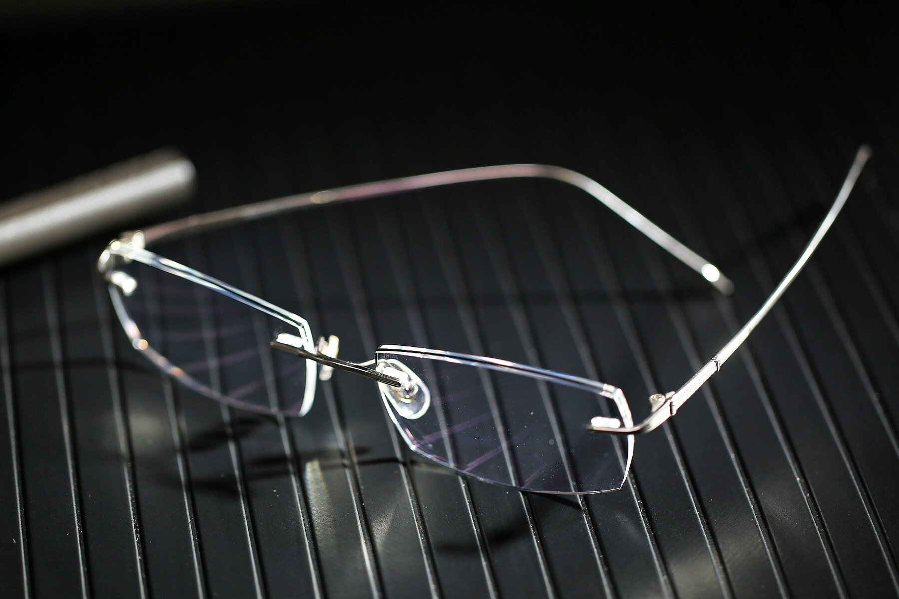 Lifestyle photography #2 of Y7016 in Silver-Black with Clear Blue Light Blocking Lenses