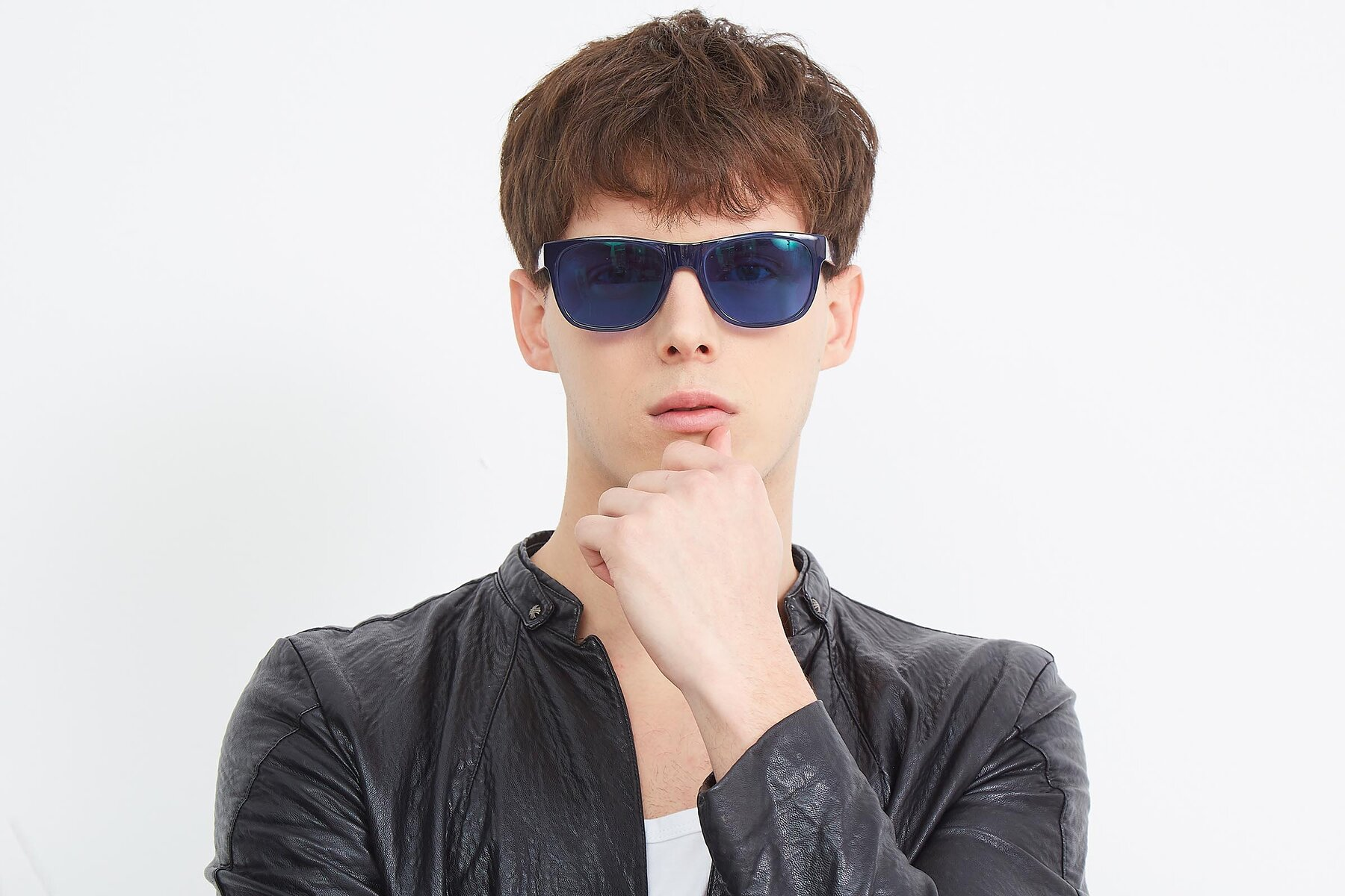 Men's lifestyle photography (landscape-1) of SSR213 in Blue with Blue Tinted Lenses