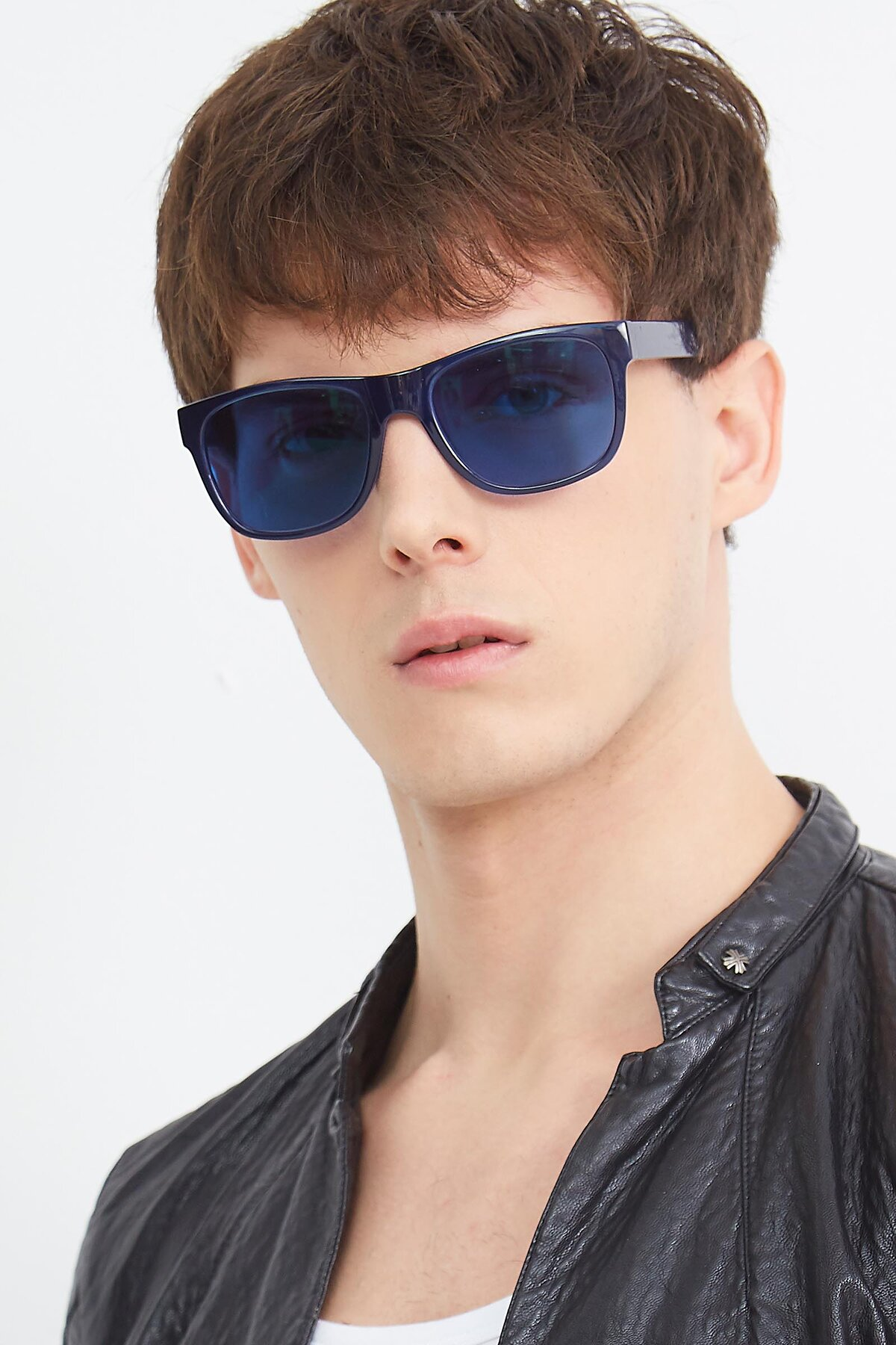 Men's lifestyle photography (portrait-1) of SSR213 in Blue with Blue Tinted Lenses
