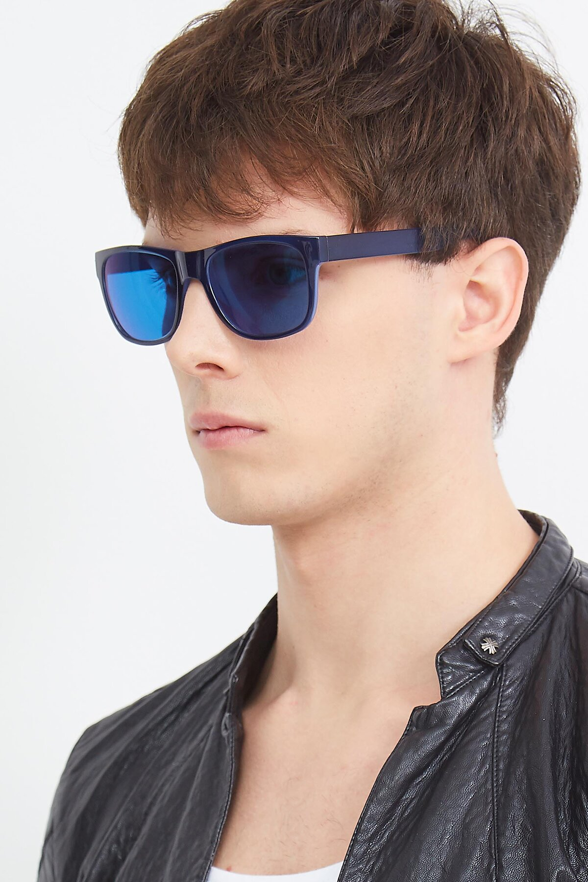Men's lifestyle photography (portrait-2) of SSR213 in Blue with Blue Tinted Lenses