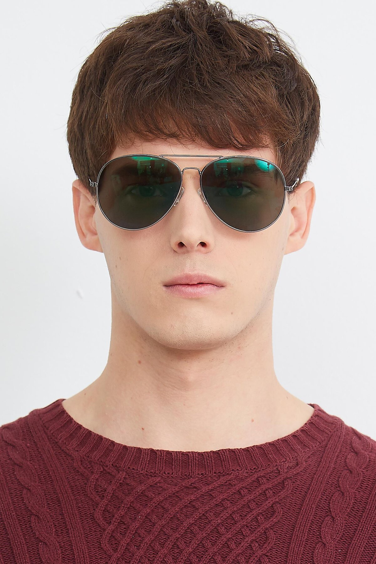 Men's lifestyle photography (portrait-1) of SSR179 in Gunmetal with Green Tinted Lenses