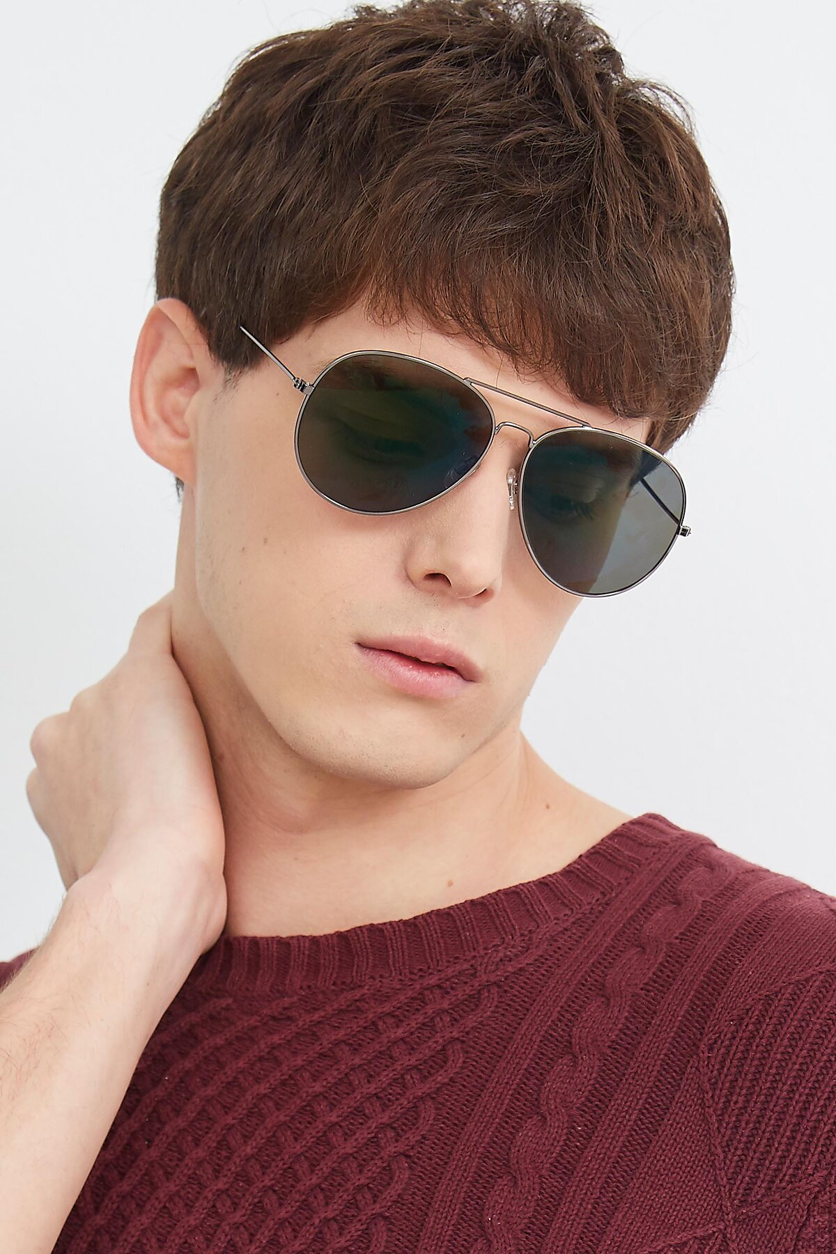 Men's lifestyle photography (portrait-2) of SSR179 in Gunmetal with Green Tinted Lenses