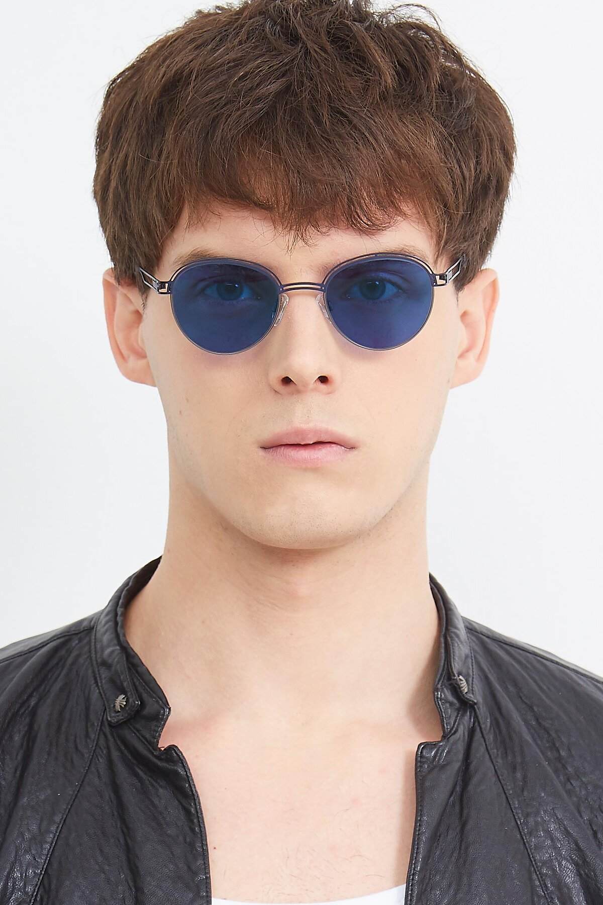 Men's lifestyle photography (portrait-1) of Marvel in Blue-Gunmetal with Blue Tinted Lenses